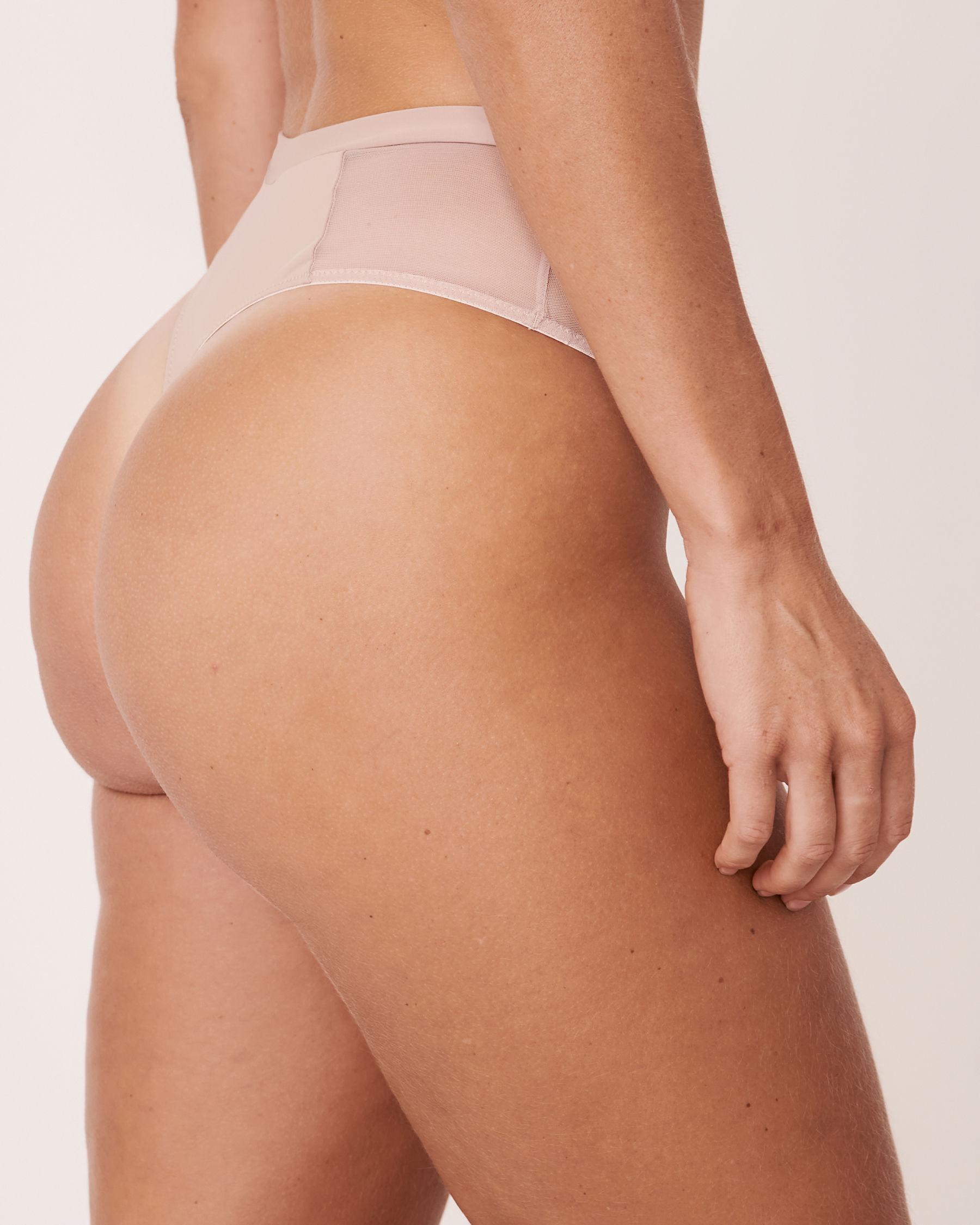 LA VIE EN ROSE High Waist Thong Panty Iris embroidery 20300041 - View2