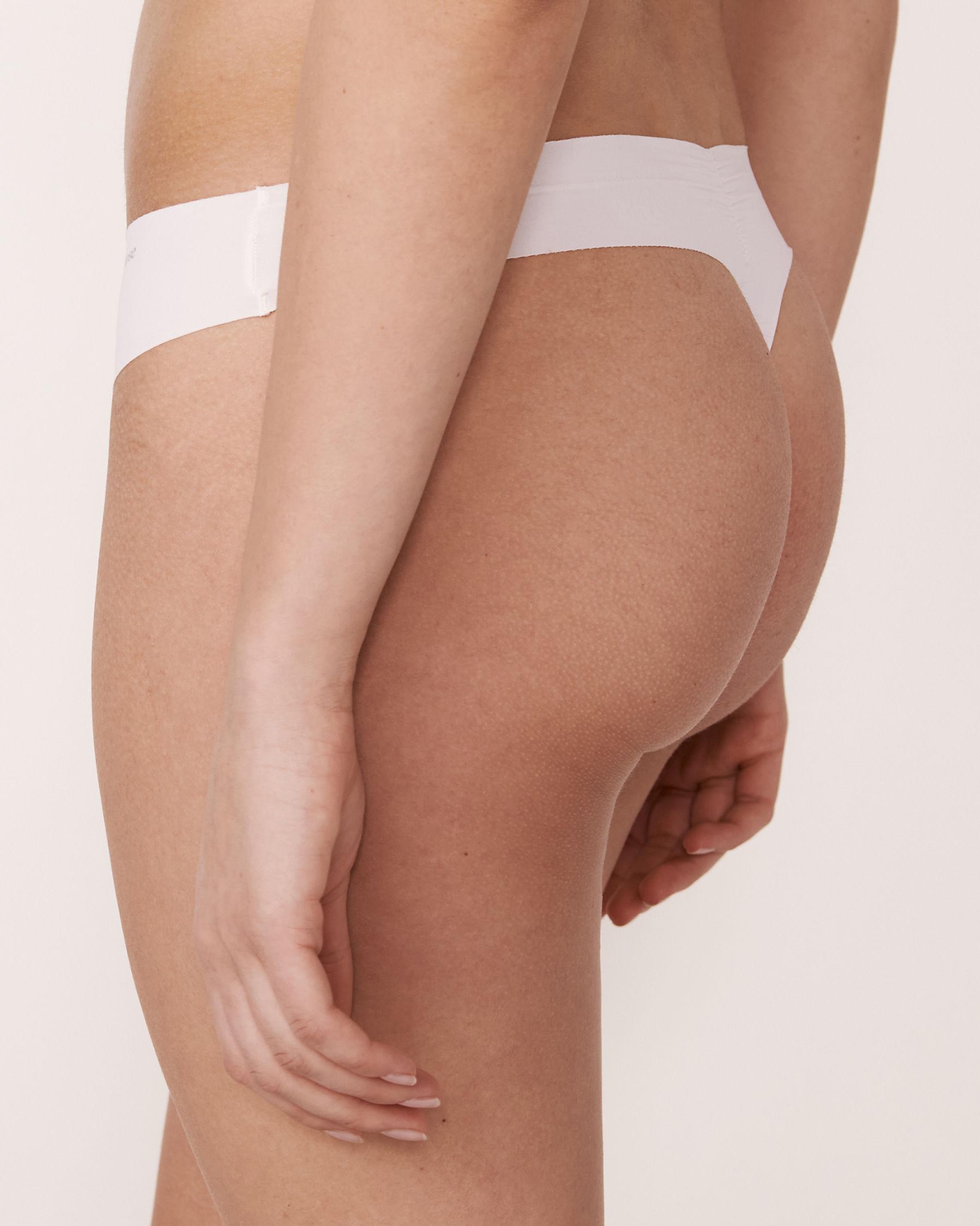 LA VIE EN ROSE Culotte tanga Blanc 619-221-0-00 - Voir2