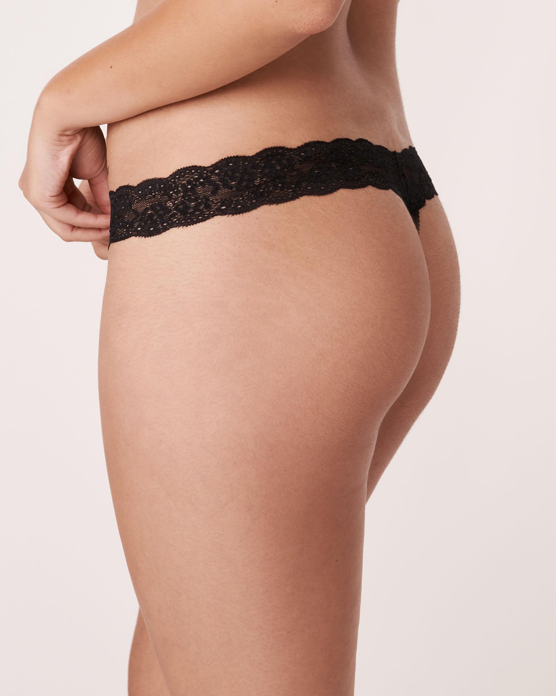 LA VIE EN ROSE Thong Panty Black 892-211-0-00 - View2