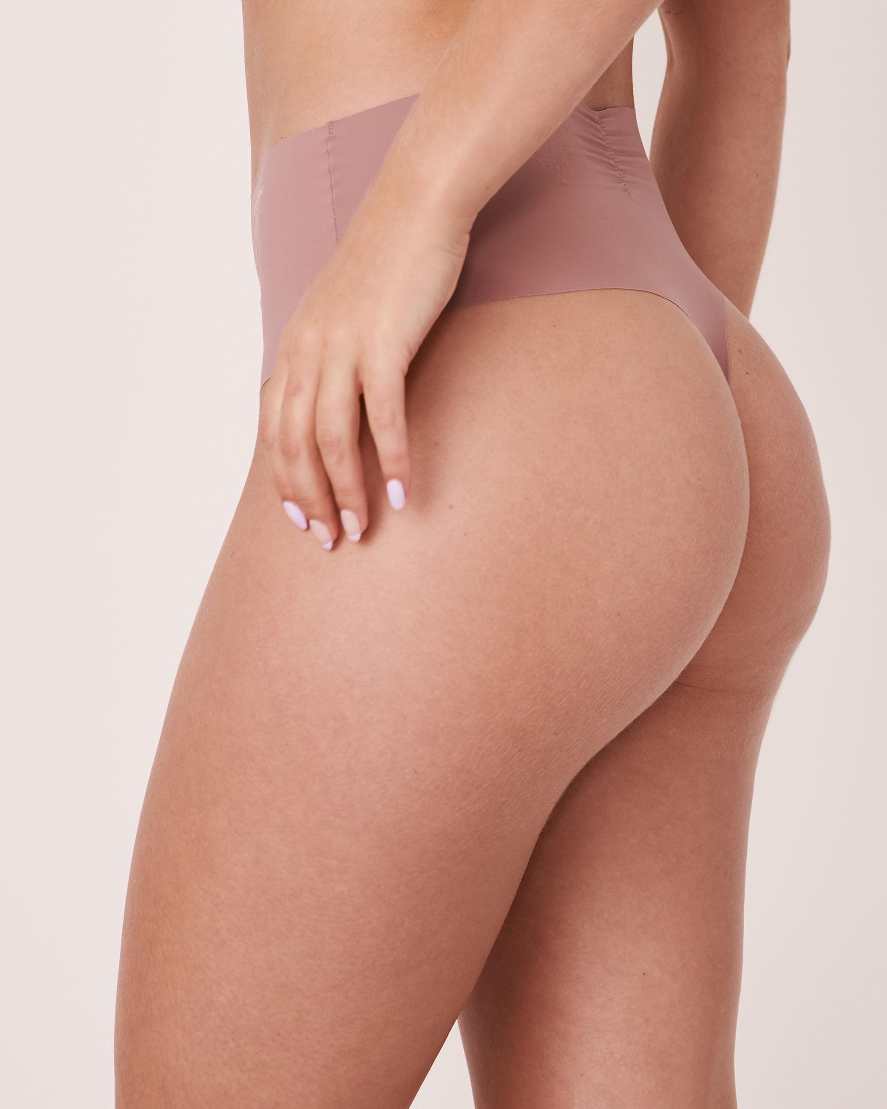 LA VIE EN ROSE Seamless High Waist Thong Panty Old pink 20200083 - View2