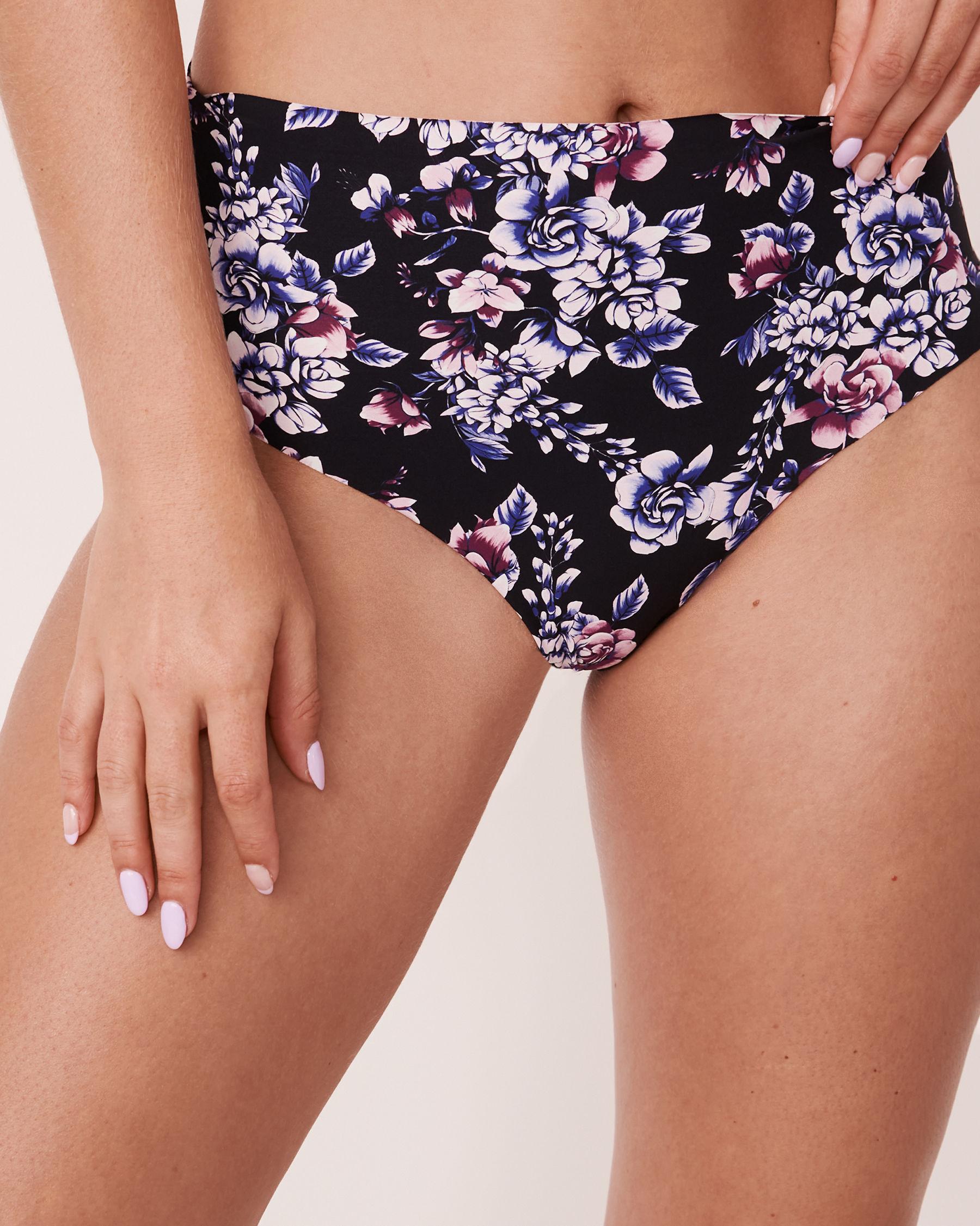 LA VIE EN ROSE Seamless High Waist Thong Panty Watercolor florals 20200083 - View1