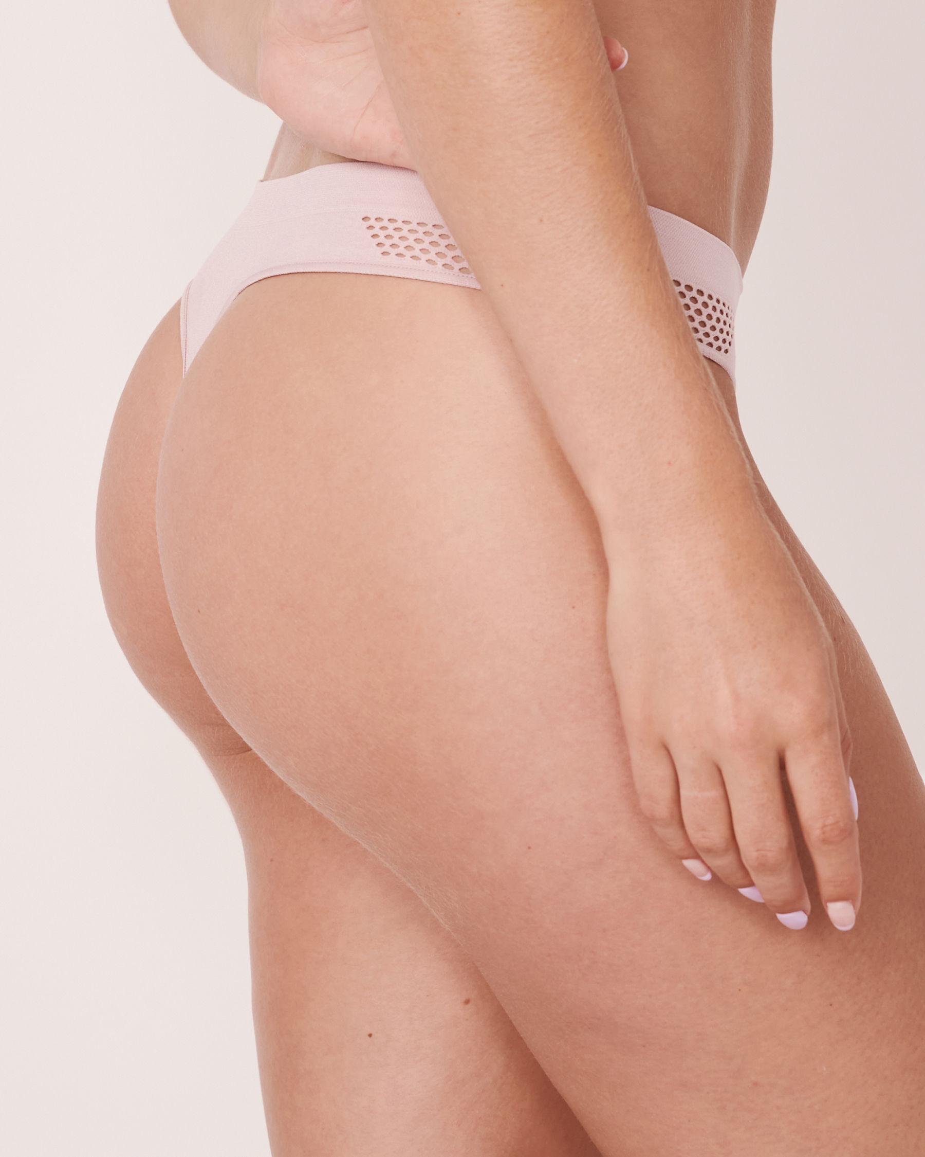 LA VIE EN ROSE Seamless Thong Panty Lilac 20200087 - View2