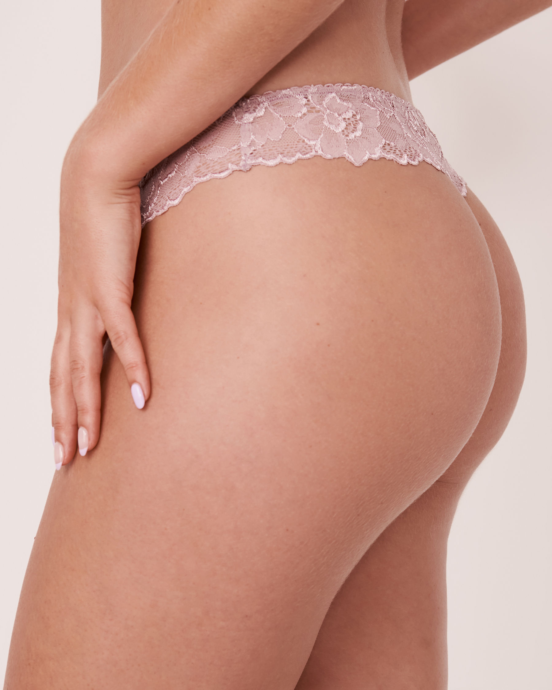 LA VIE EN ROSE Thong Panty Pink shadows 20200066 - View2