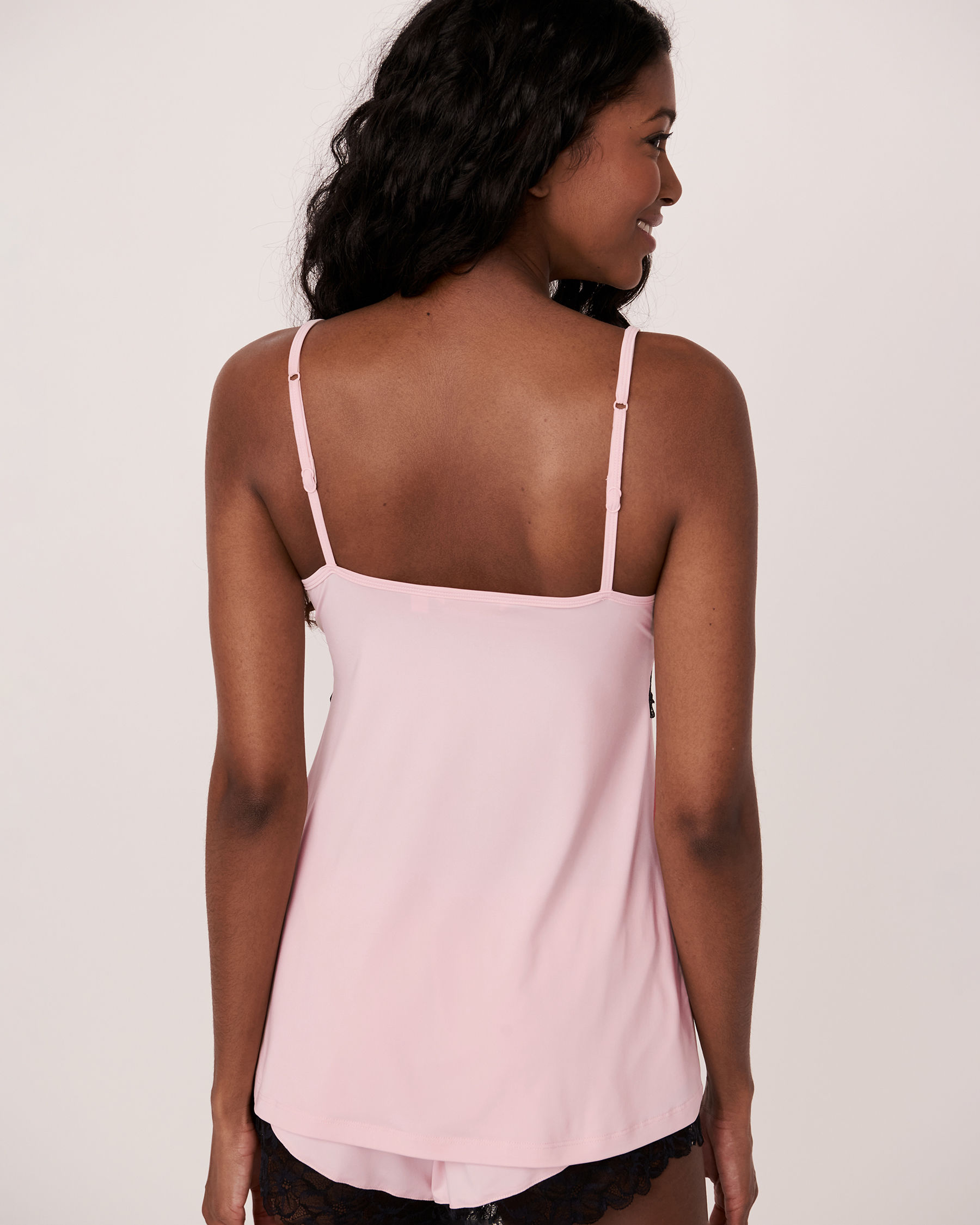 LA VIE EN ROSE Recycled Fibers Lace Trim Cami Light pink 40100075 - View2
