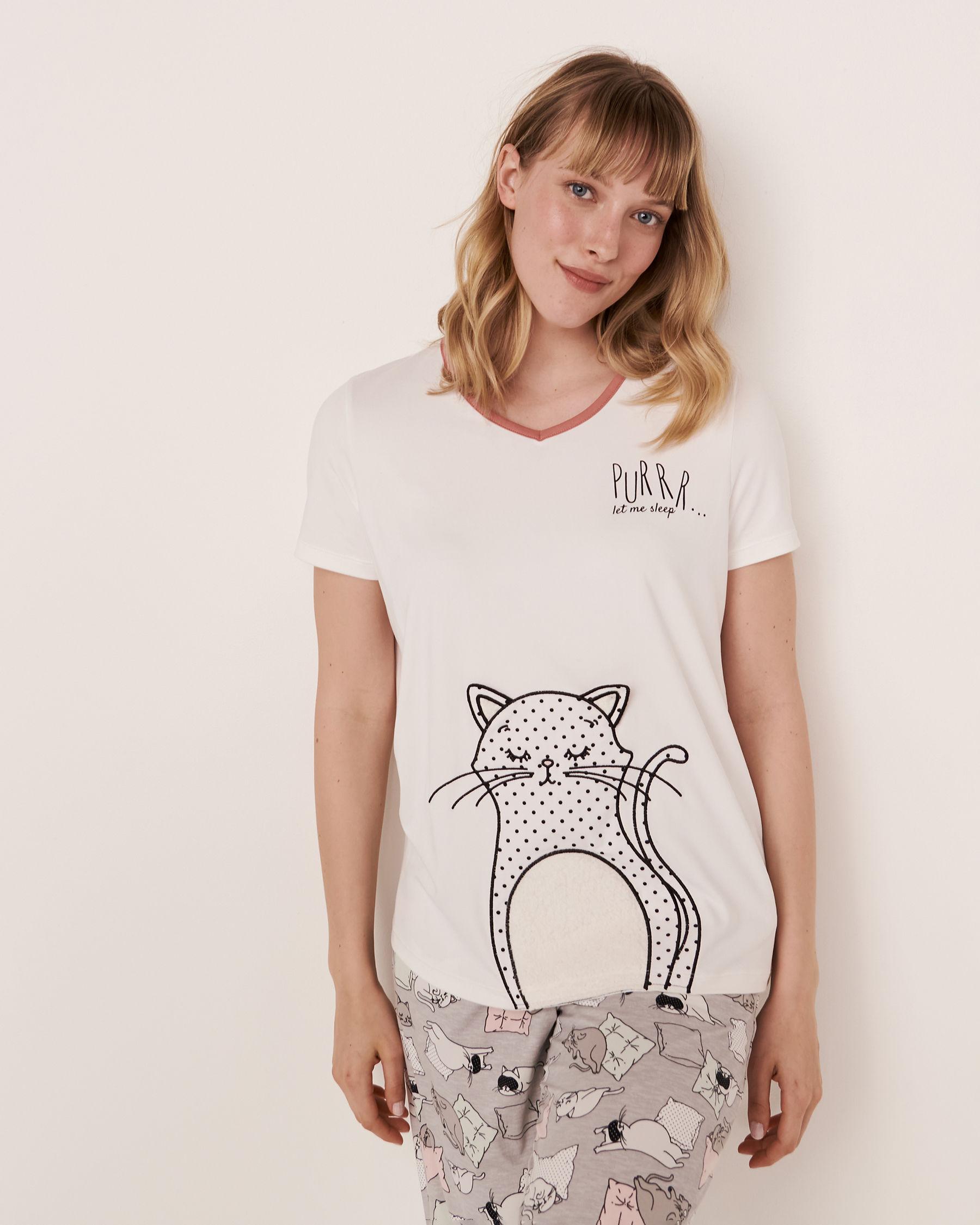LA VIE EN ROSE 3D Details T-shirt White 40100085 - View1