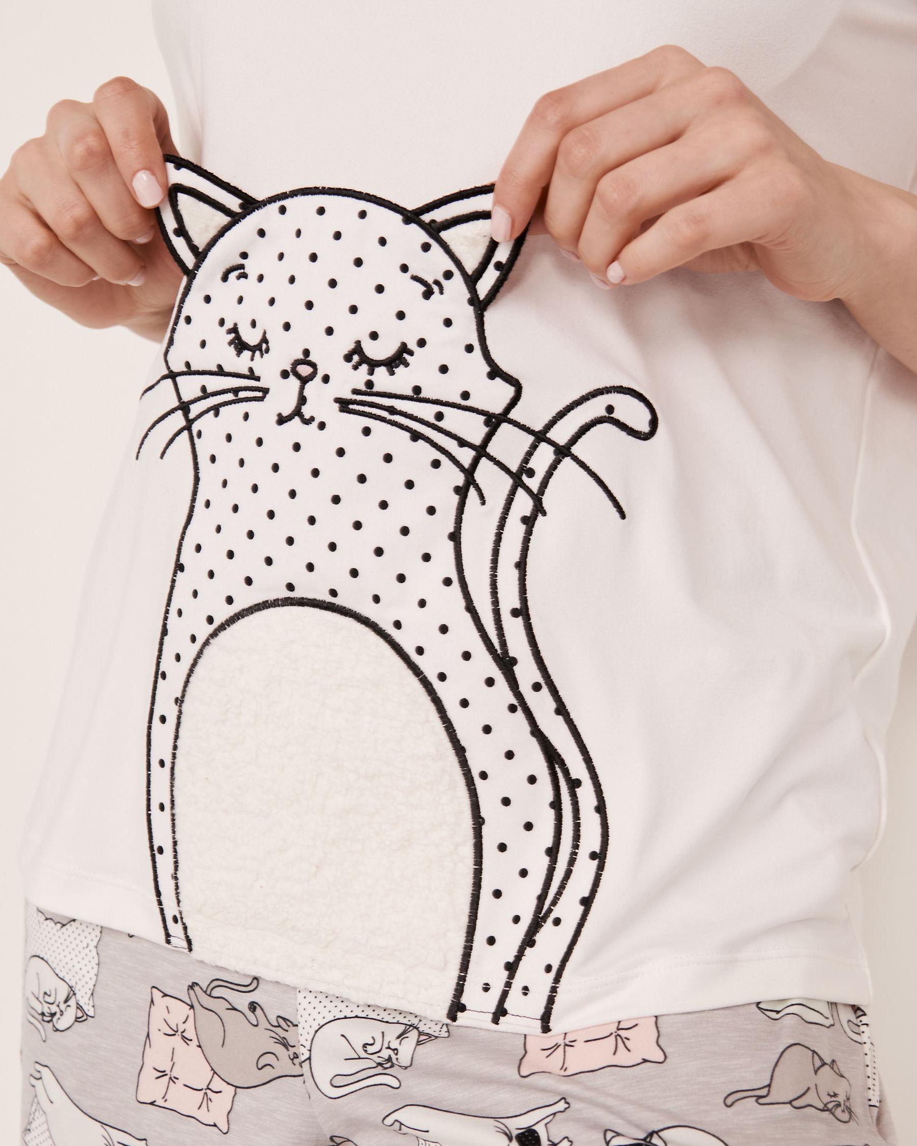 LA VIE EN ROSE 3D Details T-shirt White 40100085 - View2