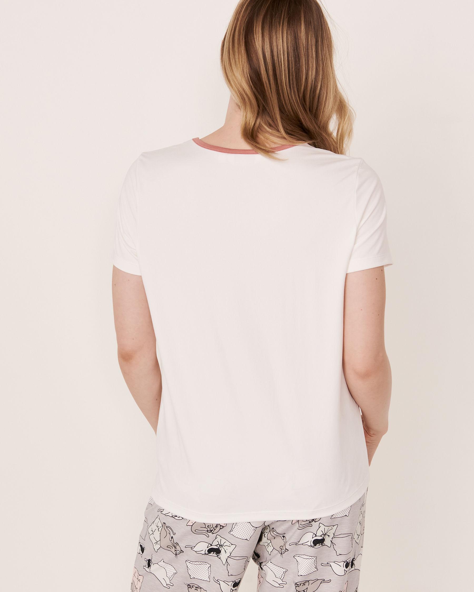 LA VIE EN ROSE 3D Details T-shirt White 40100085 - View3
