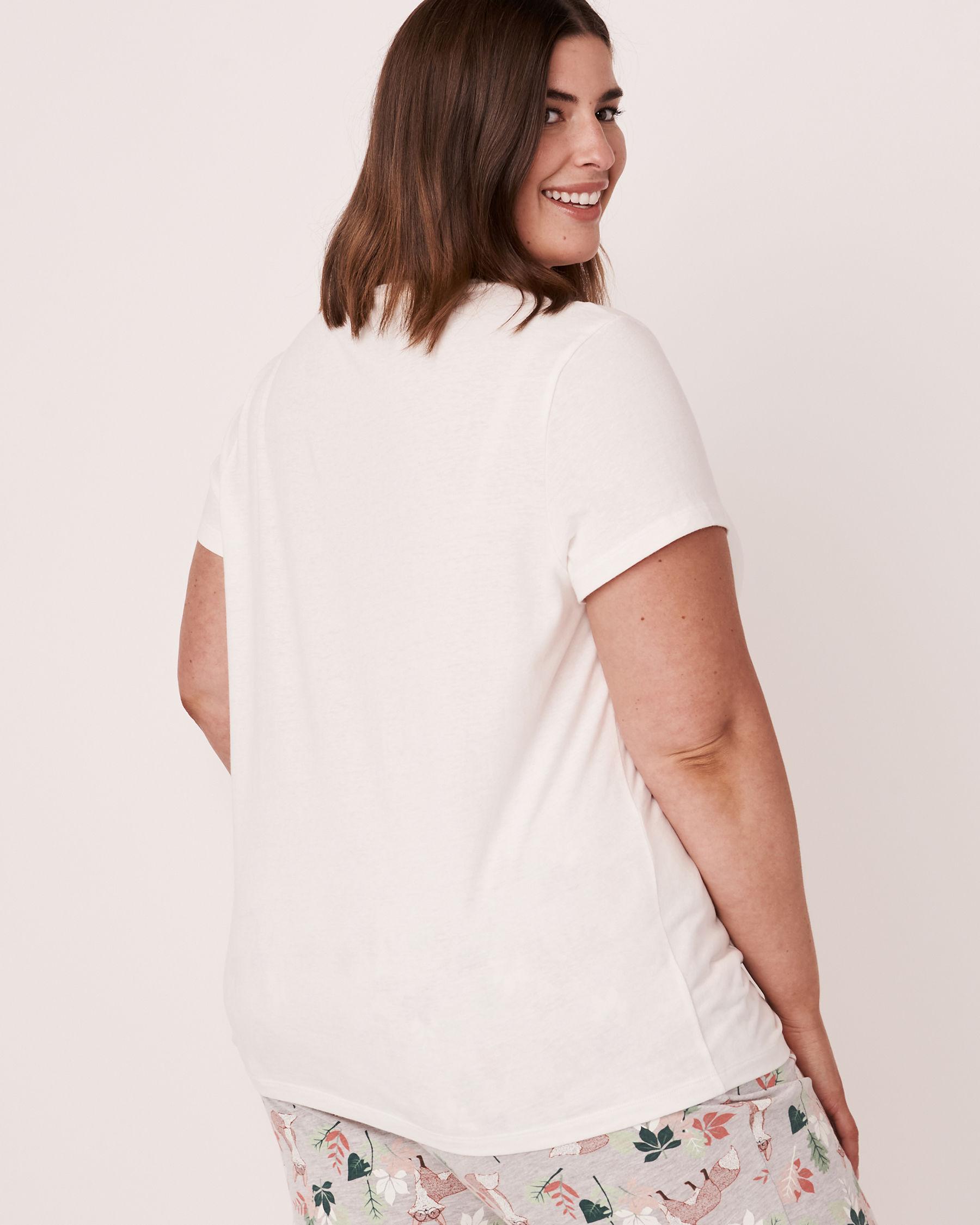 LA VIE EN ROSE Twisted T-shirt White 40100097 - View2