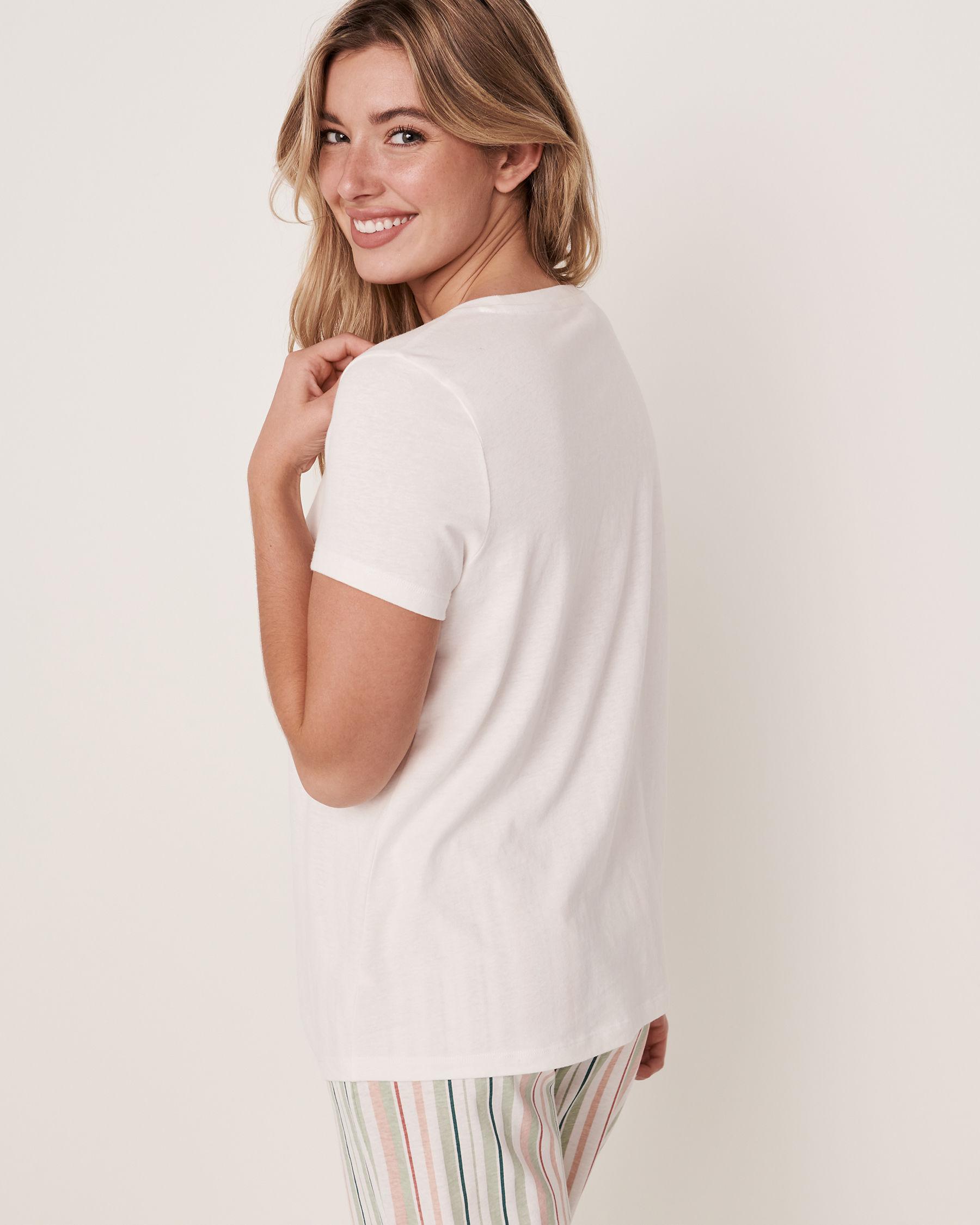 LA VIE EN ROSE Twisted T-shirt White 40100097 - View4