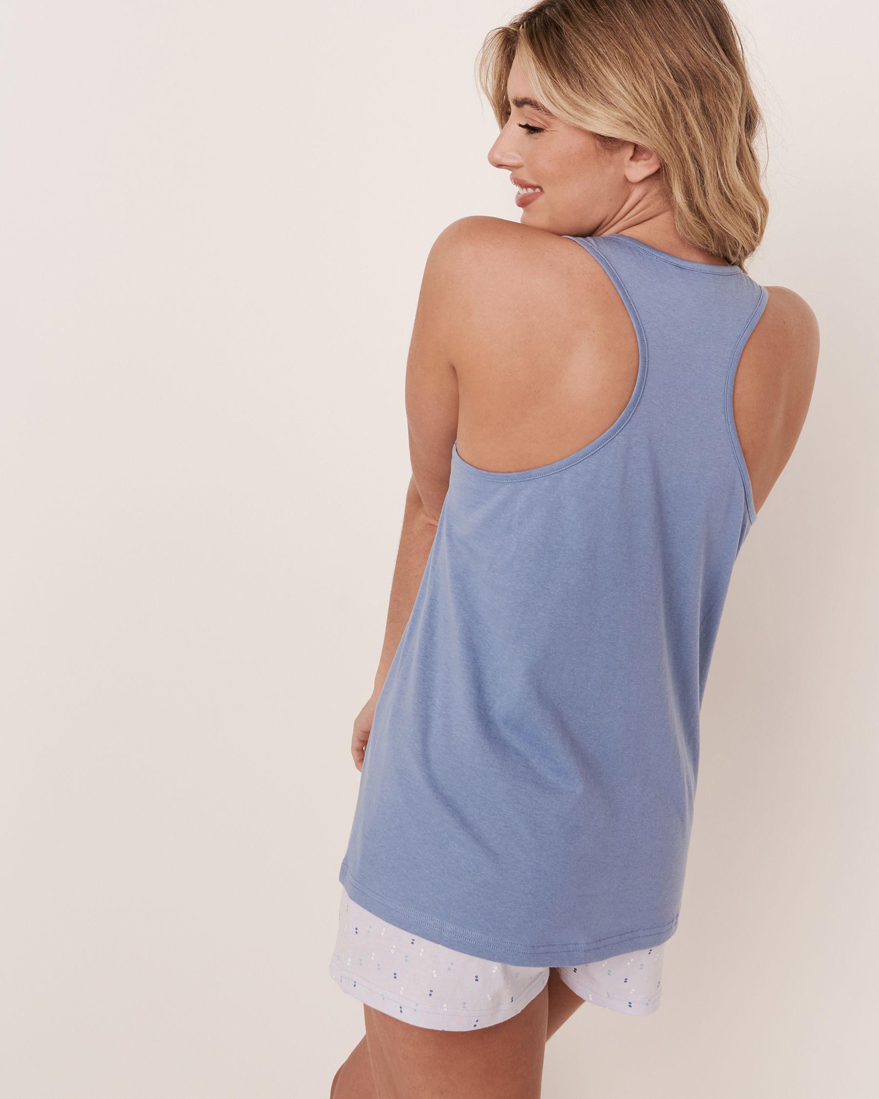 LA VIE EN ROSE Camisole dos croisé Bleu délavé 40100101 - Voir2