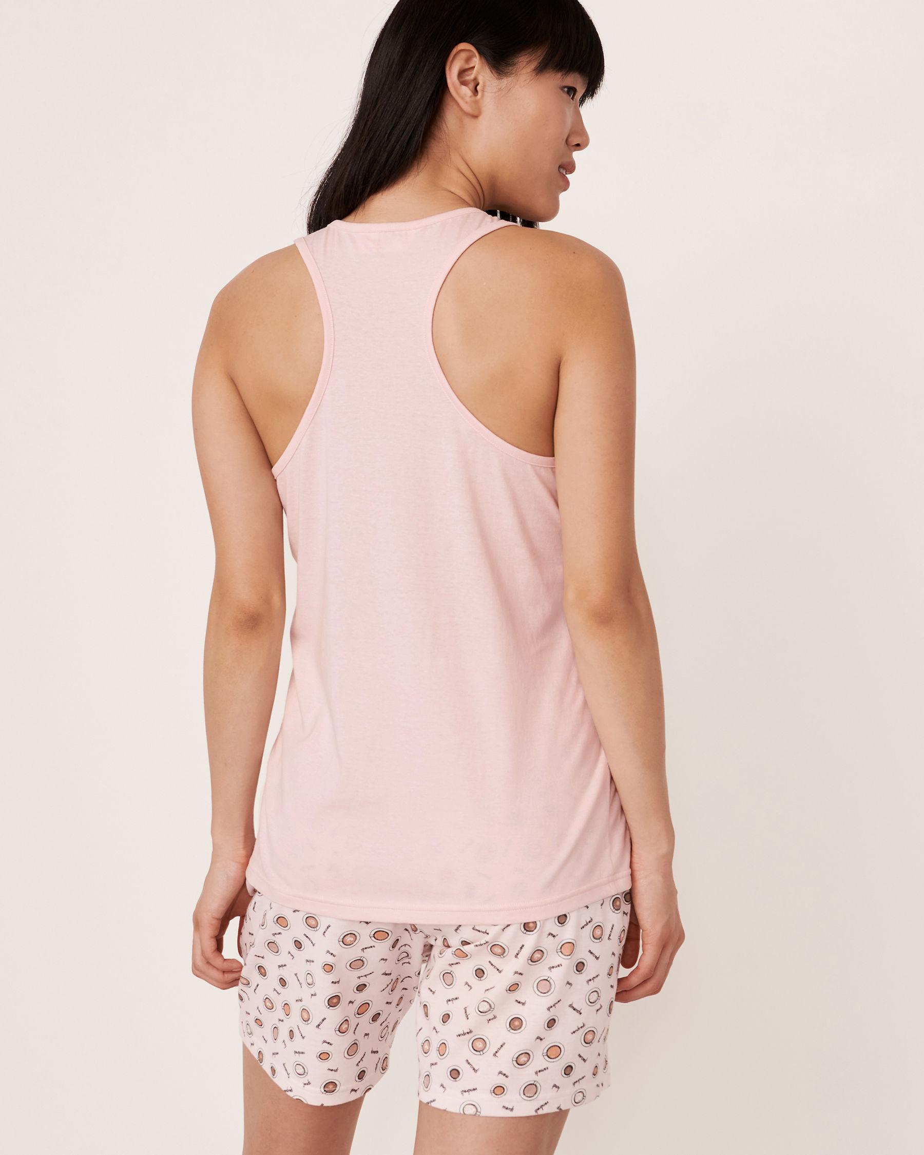 LA VIE EN ROSE Camisole dos croisé Rose 40100101 - Voir2