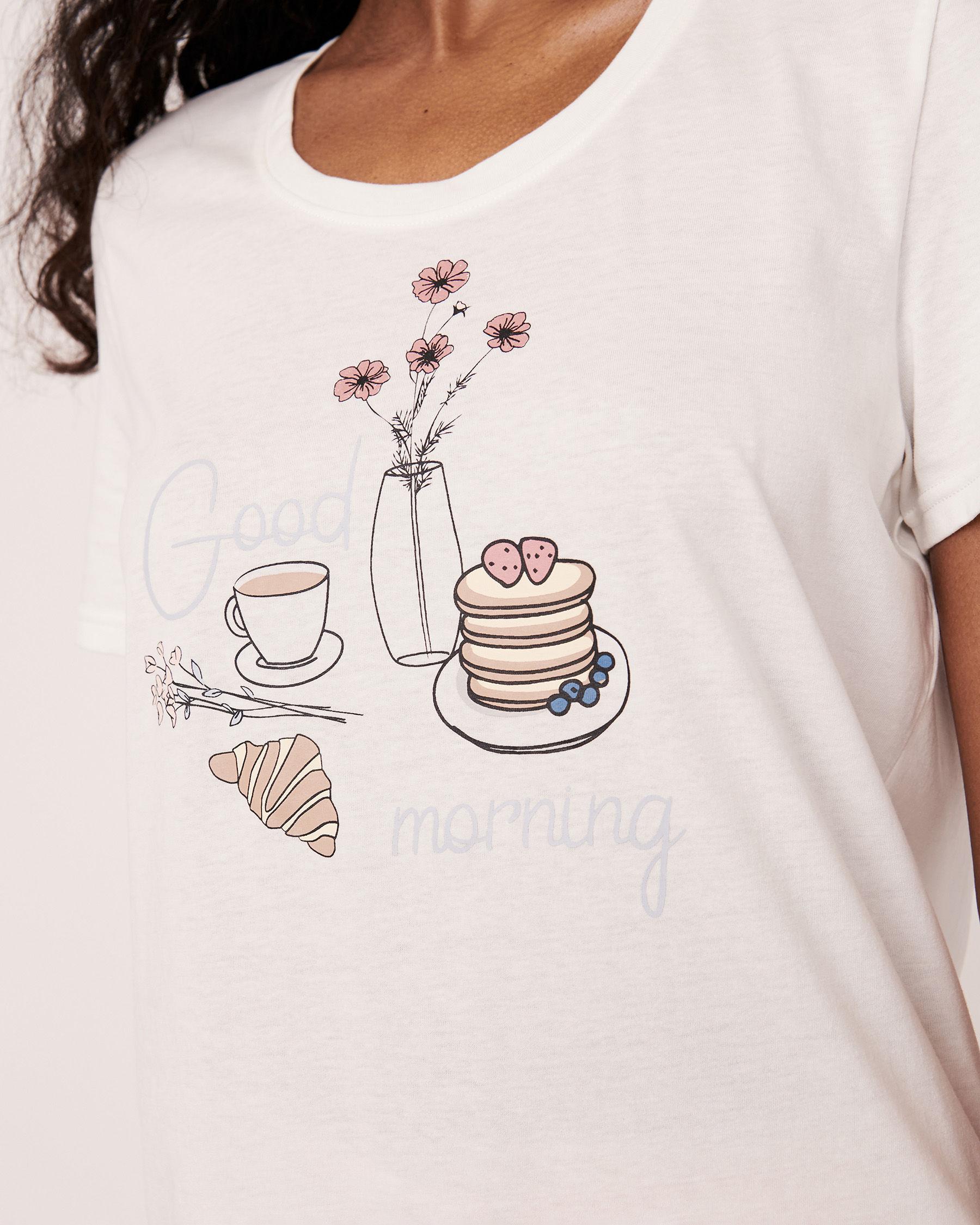 LA VIE EN ROSE Scoop Neckline T-shirt White 40100104 - View1