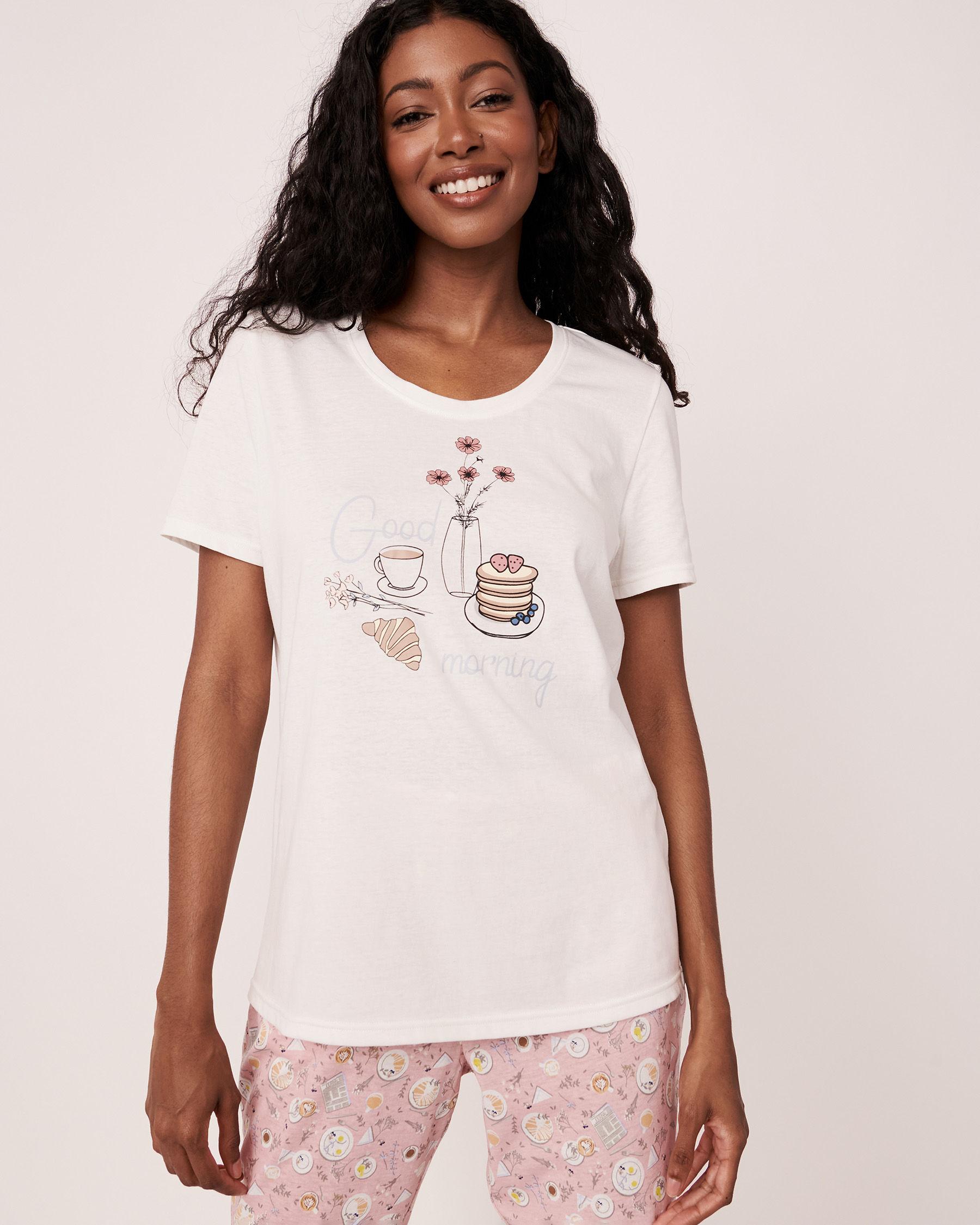 LA VIE EN ROSE Scoop Neckline T-shirt White 40100104 - View2