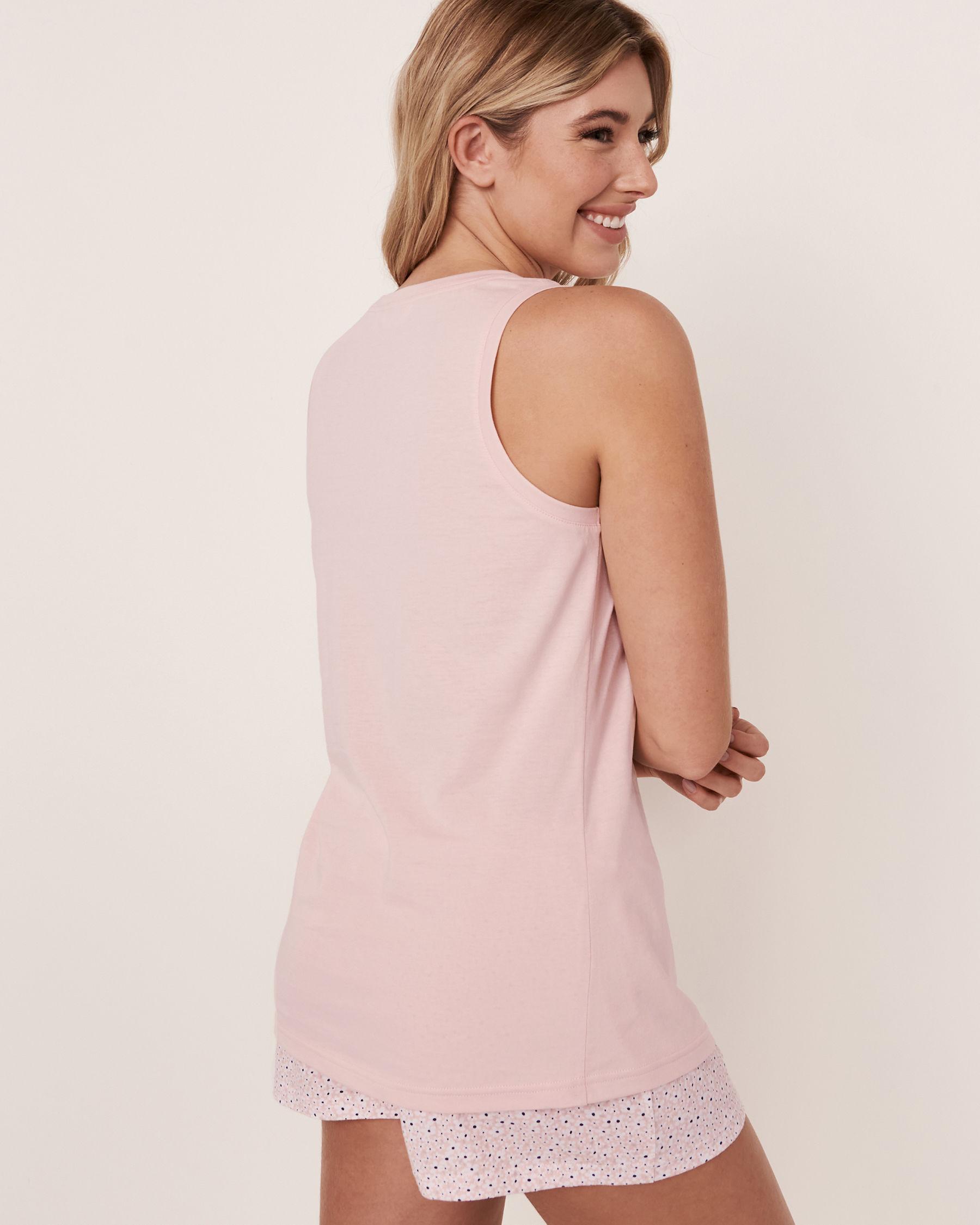 LA VIE EN ROSE Camisole bretelles larges encolure ronde Rose pâle 40100113 - Voir2