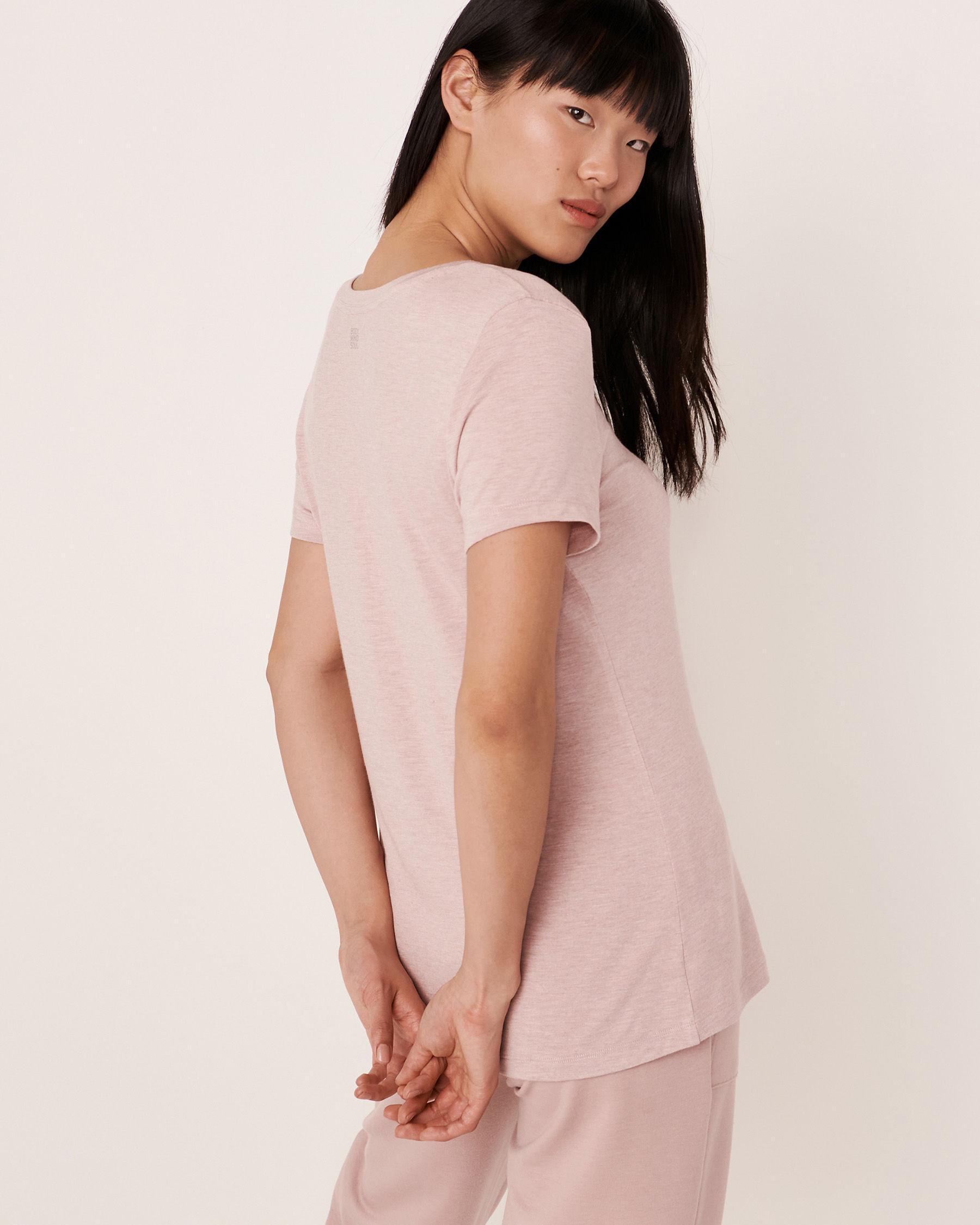 LA VIE EN ROSE Scoop Neck T-shirt Shadow grey 50100014 - View3