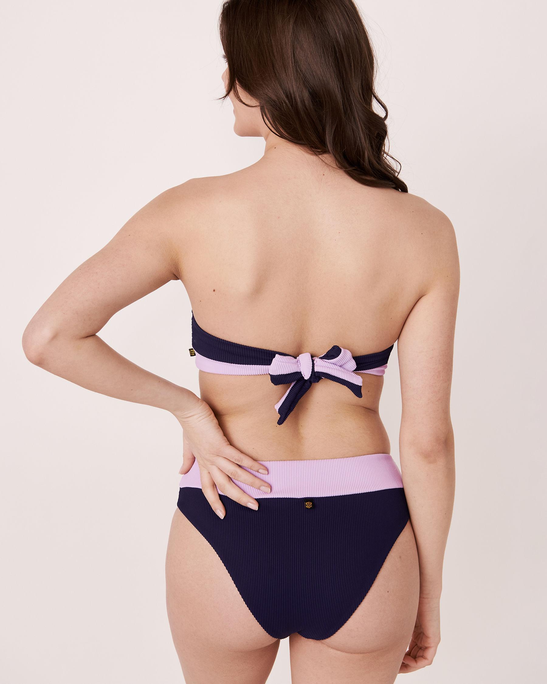 LA VIE EN ROSE AQUA Haut de bikini bandeau en fibres recyclées BRIGHT RIB Marine 70100060 - Voir2