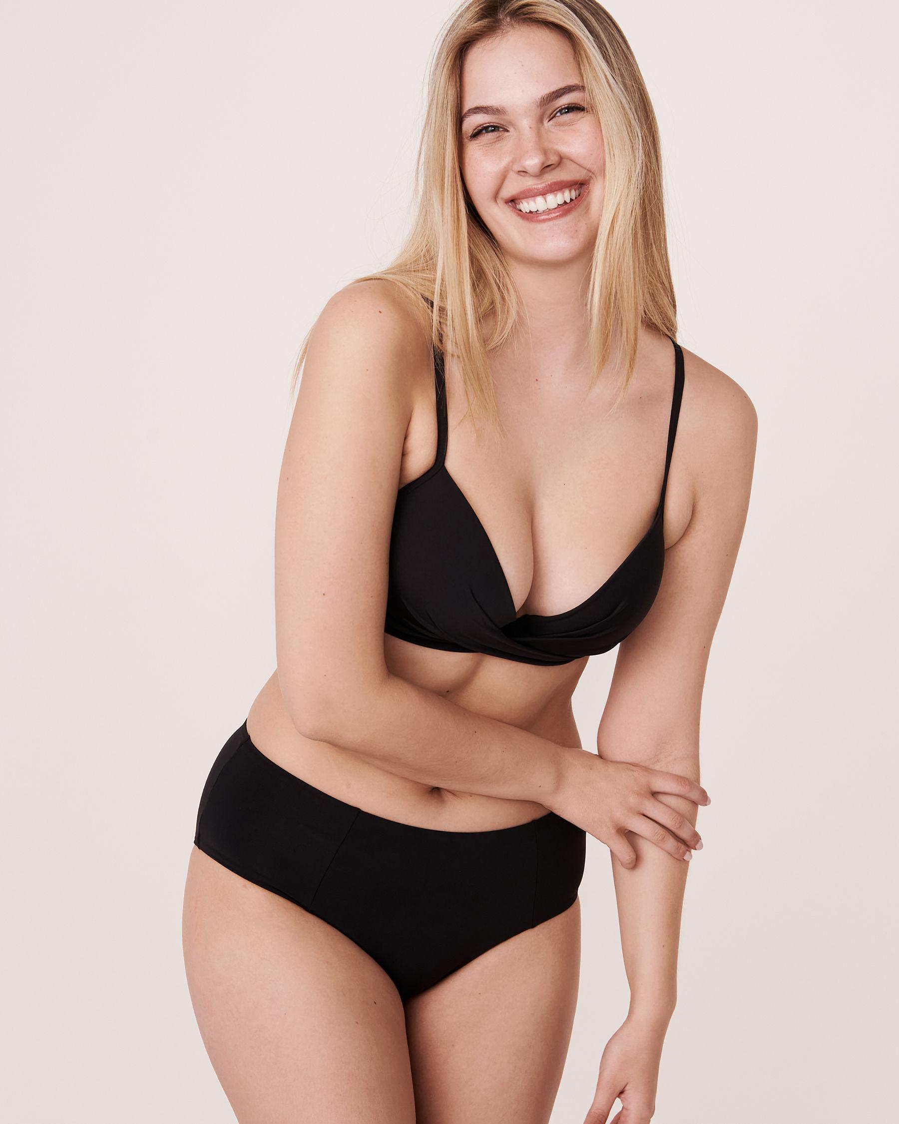 LA VIE EN ROSE AQUA Haut de bikini push-up torsadé SOLID Noir 70100088 - Voir1
