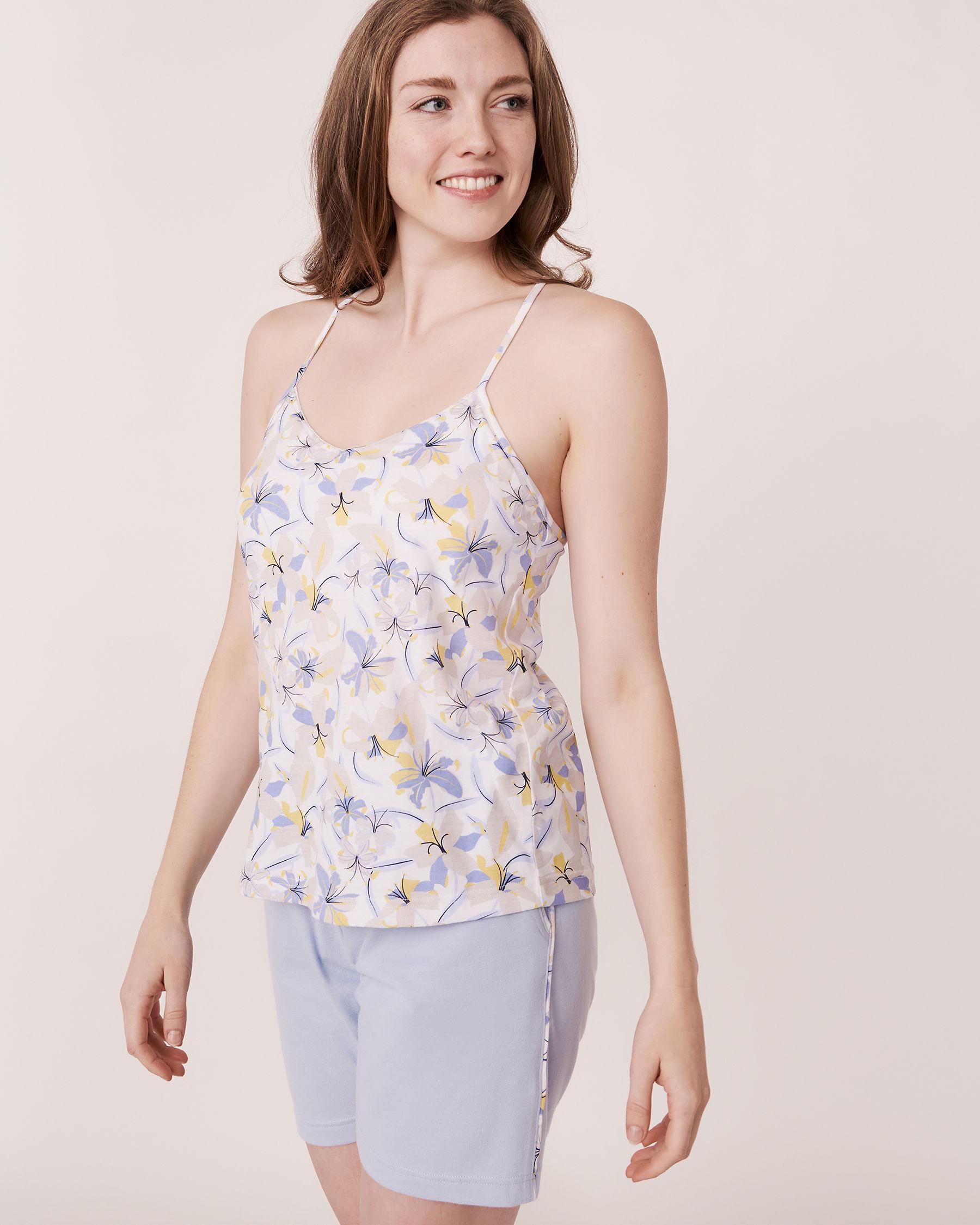 LA VIE EN ROSE Camisole dos nageur pétales 3D Imprimé floral 40100011 - Voir1