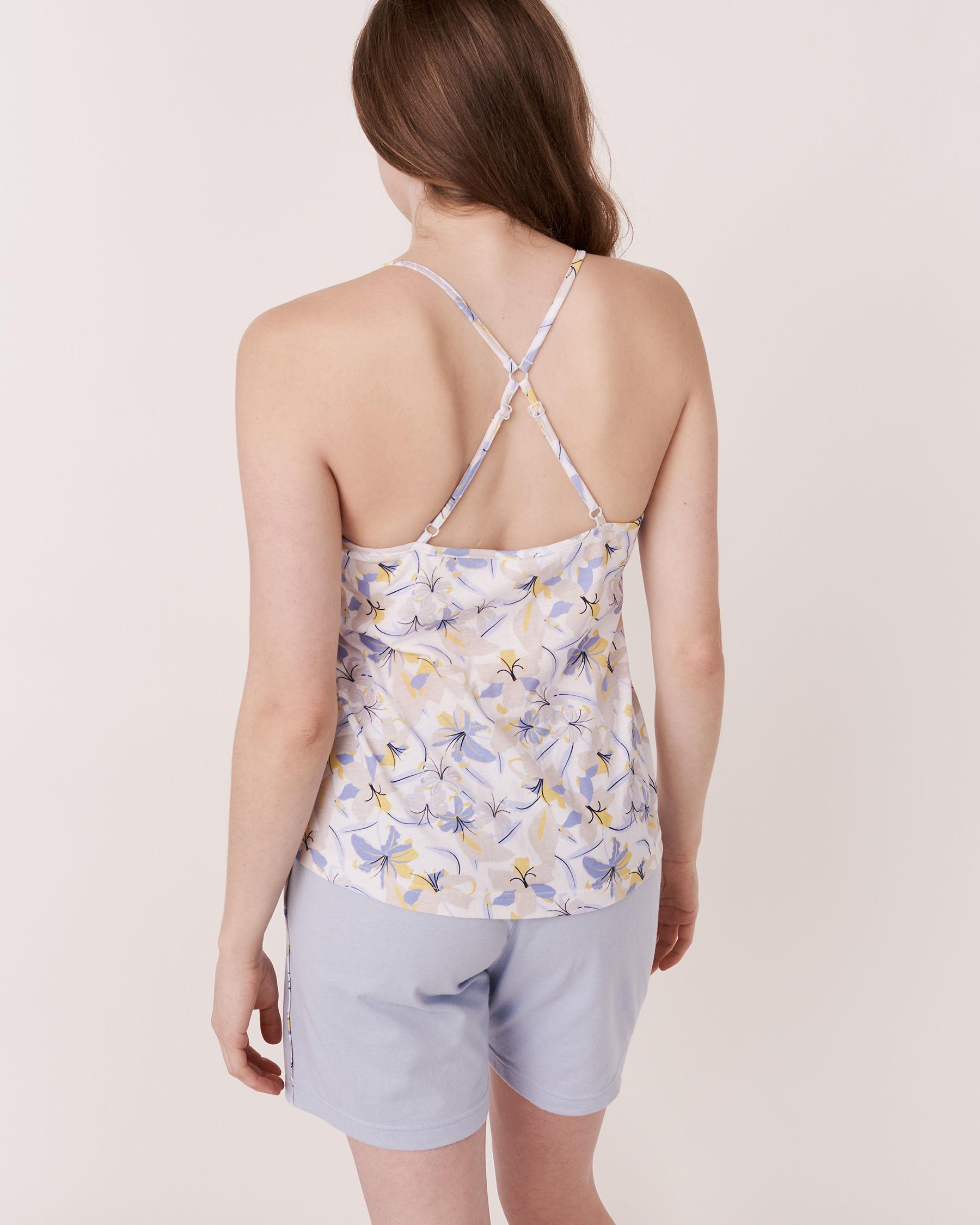 LA VIE EN ROSE Camisole dos nageur pétales 3D Imprimé floral 40100011 - Voir2