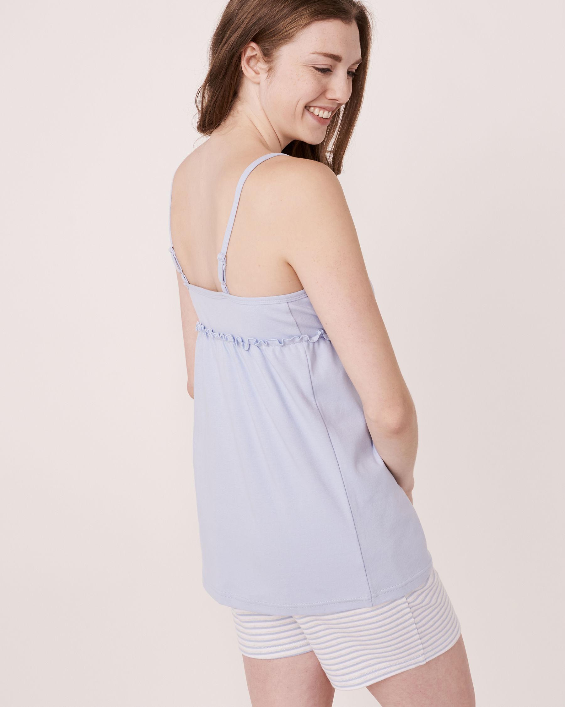 LA VIE EN ROSE Organic Cotton Wrap Cami Blue sky 40100004 - View4