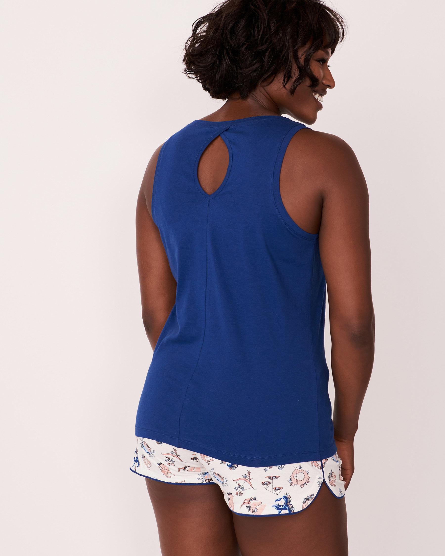 LA VIE EN ROSE V-neckline Cami Blue 878-385-0-11 - View3