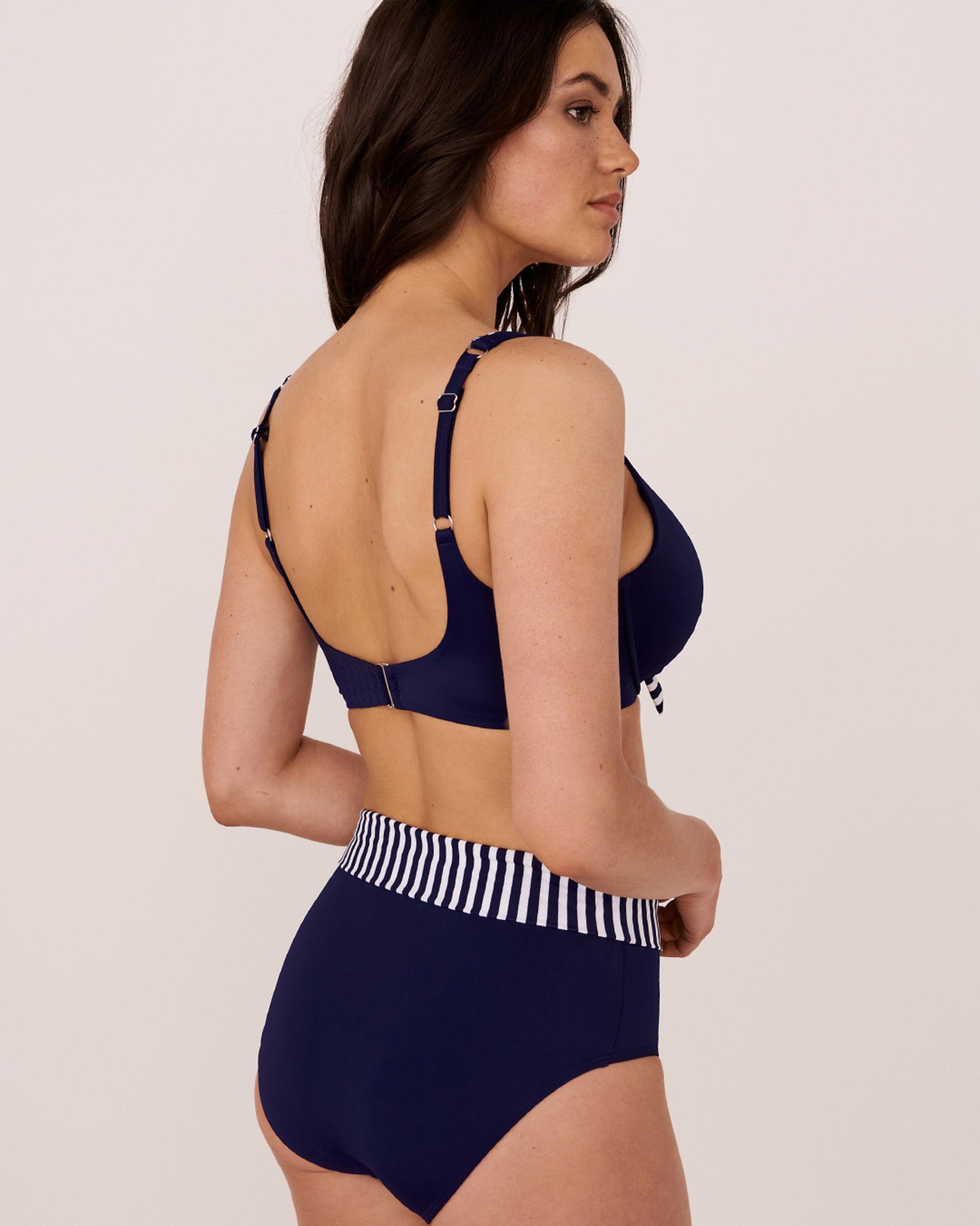 LA VIE EN ROSE AQUA Haut de bikini bonnet D COSMO Bleu 671-681-0-0P - Voir4
