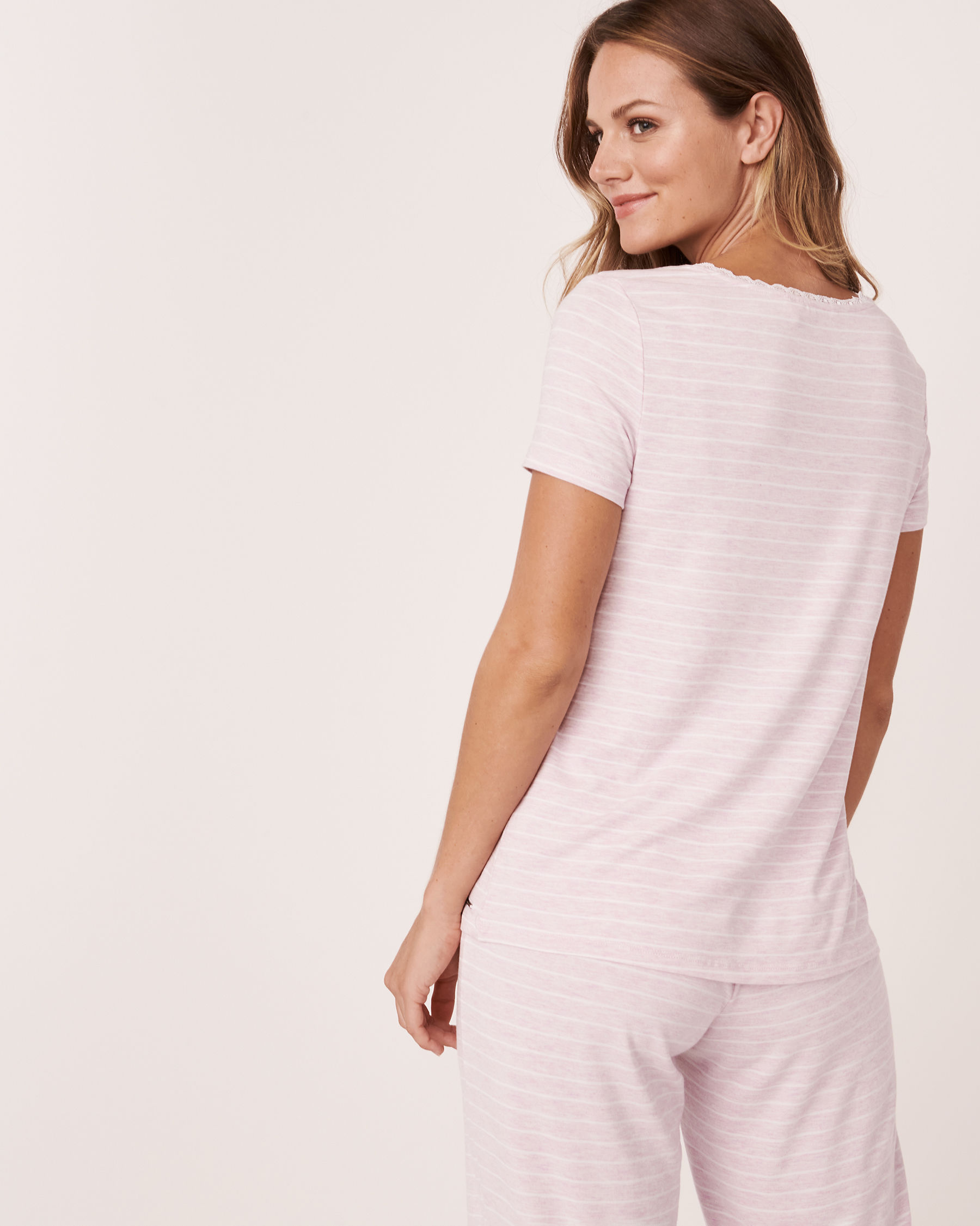 LA VIE EN ROSE Henley T-shirt Stripes 50100008 - View2