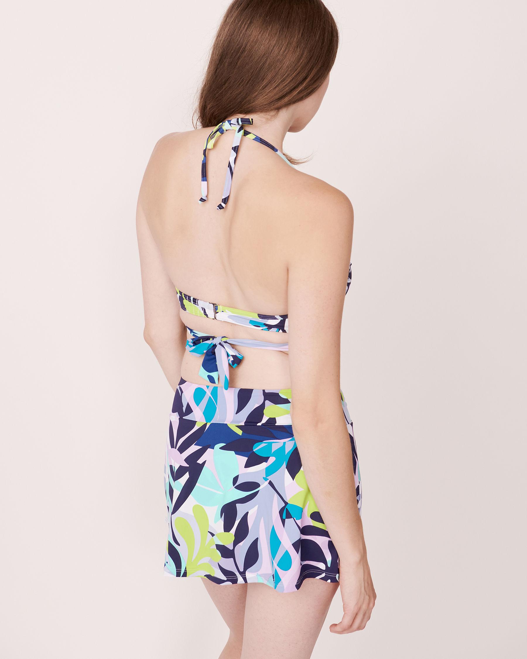 LA VIE EN ROSE AQUA SPRING LEAVES Push-up Bikini Top Leaves print 70100016 - View2