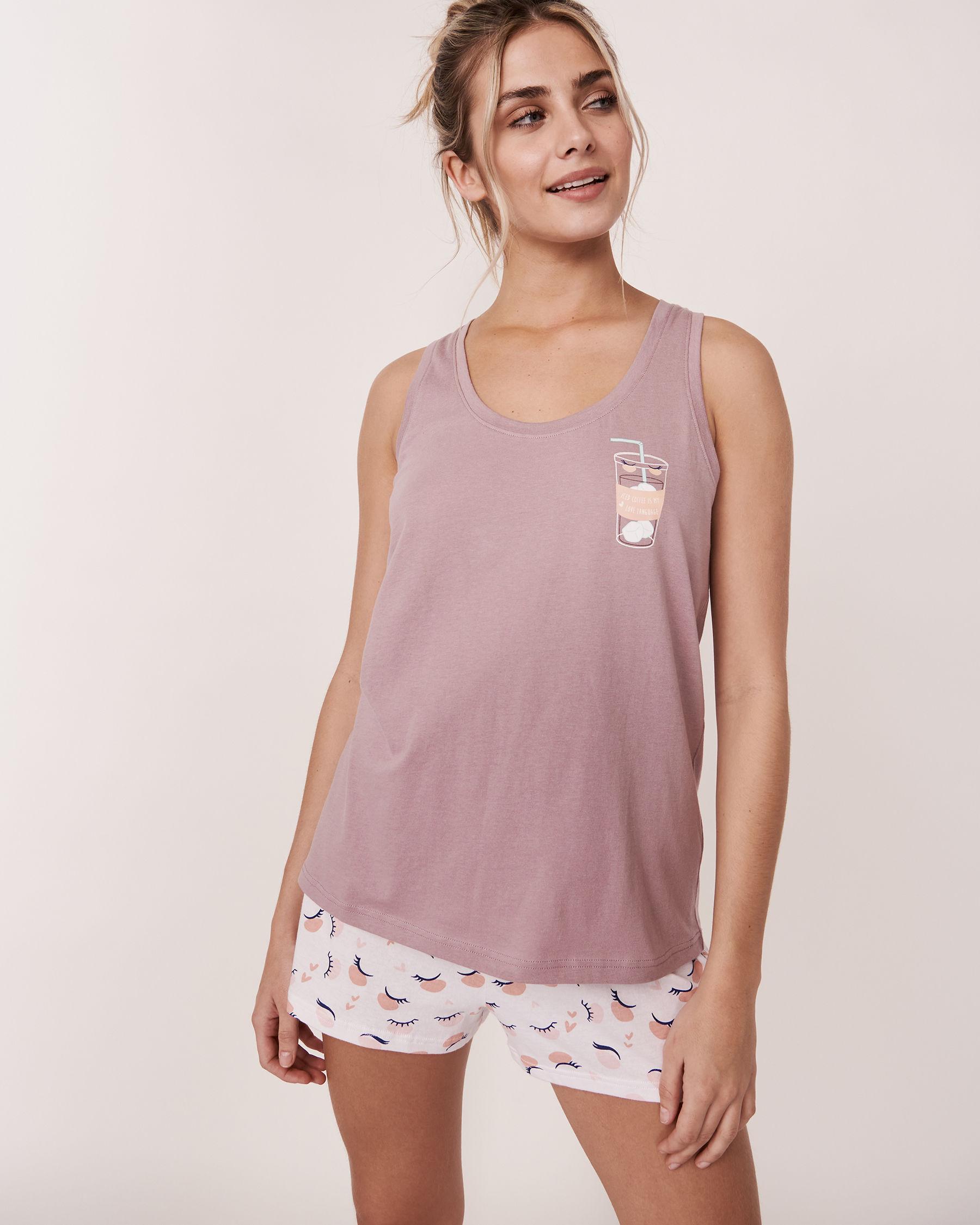 LA VIE EN ROSE Scoop Neckline Cami Purple 40100045 - View1