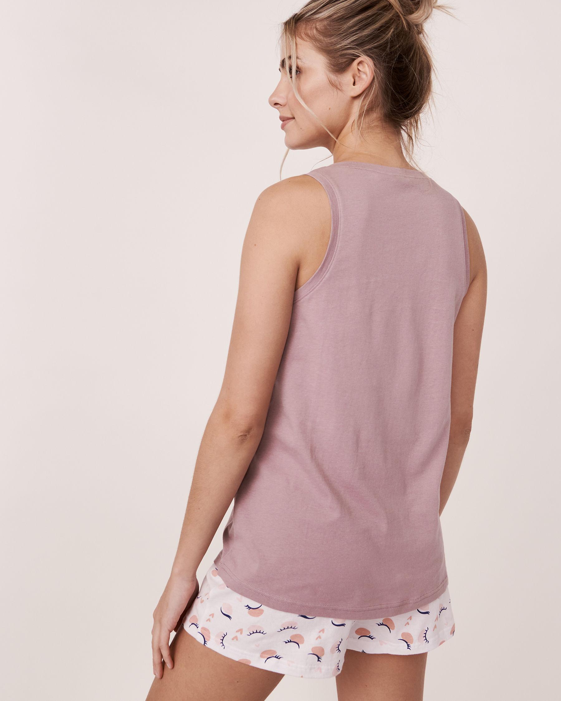 LA VIE EN ROSE Scoop Neckline Cami Purple 40100045 - View3