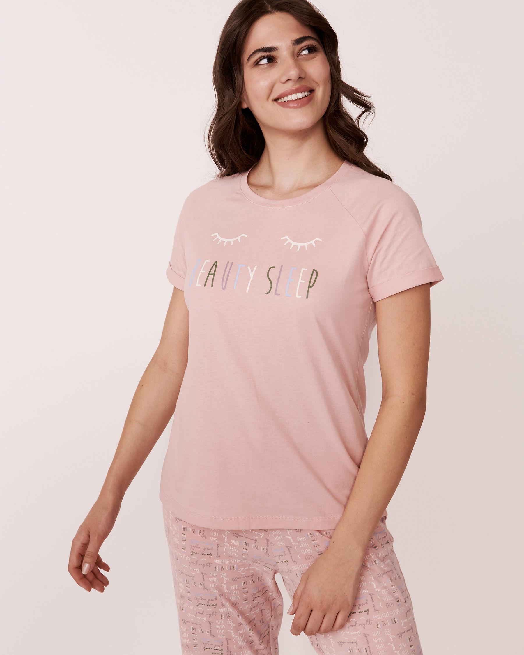LA VIE EN ROSE Raglan Short Sleeves Shirt Pink 880-386-1-11 - View1