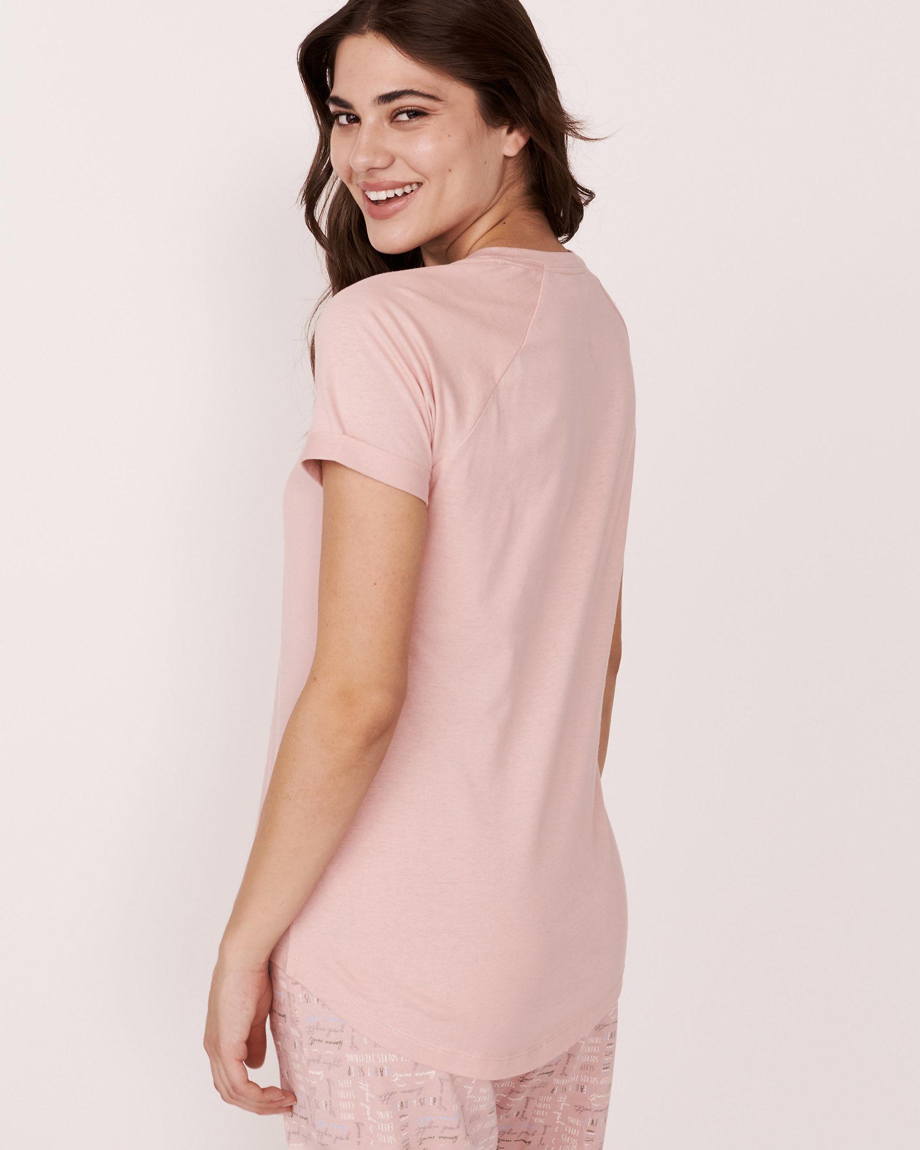LA VIE EN ROSE Raglan Short Sleeves Shirt Pink 880-386-1-11 - View2