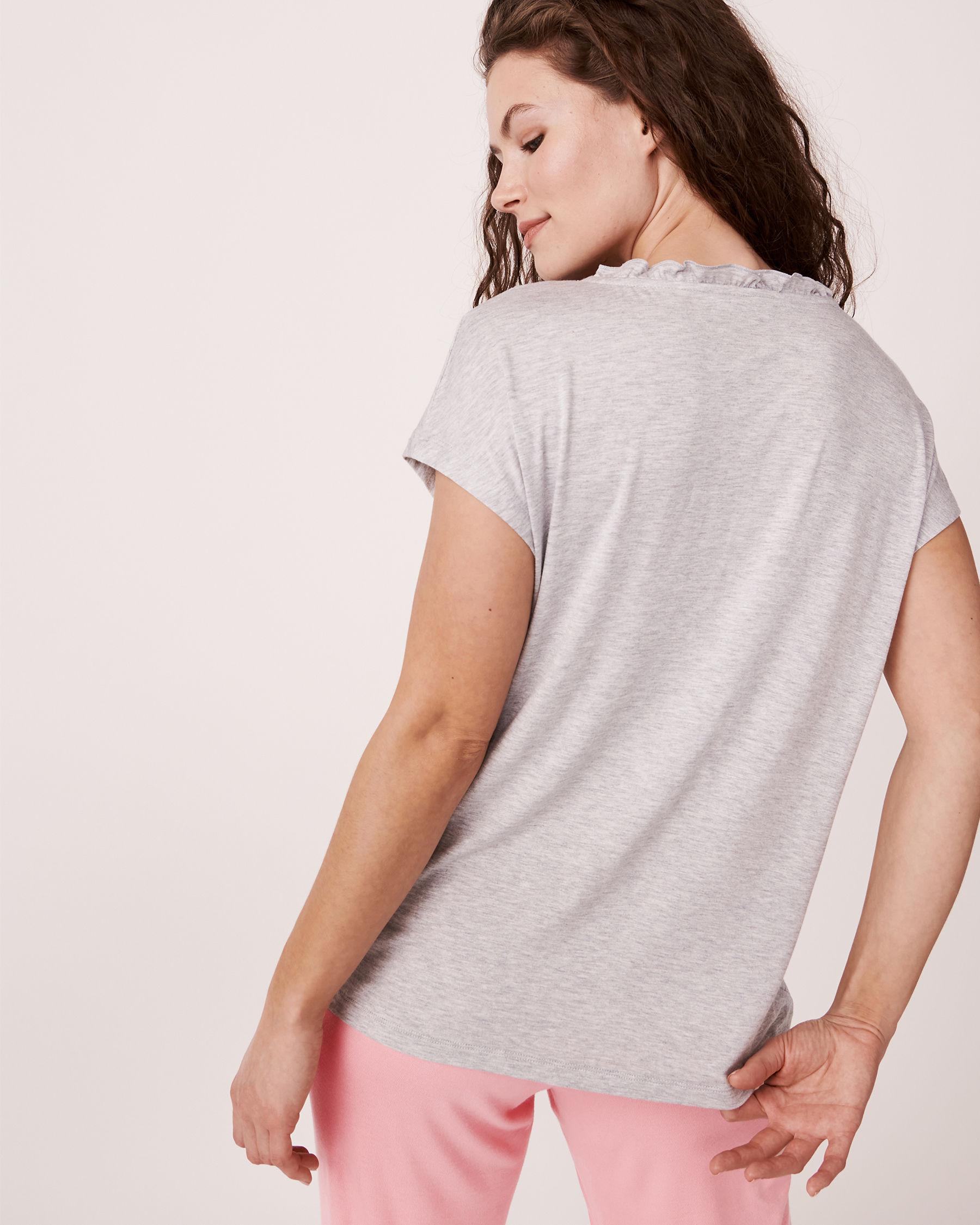 LA VIE EN ROSE V-Neckline T-shirt Grey 40100030 - View2
