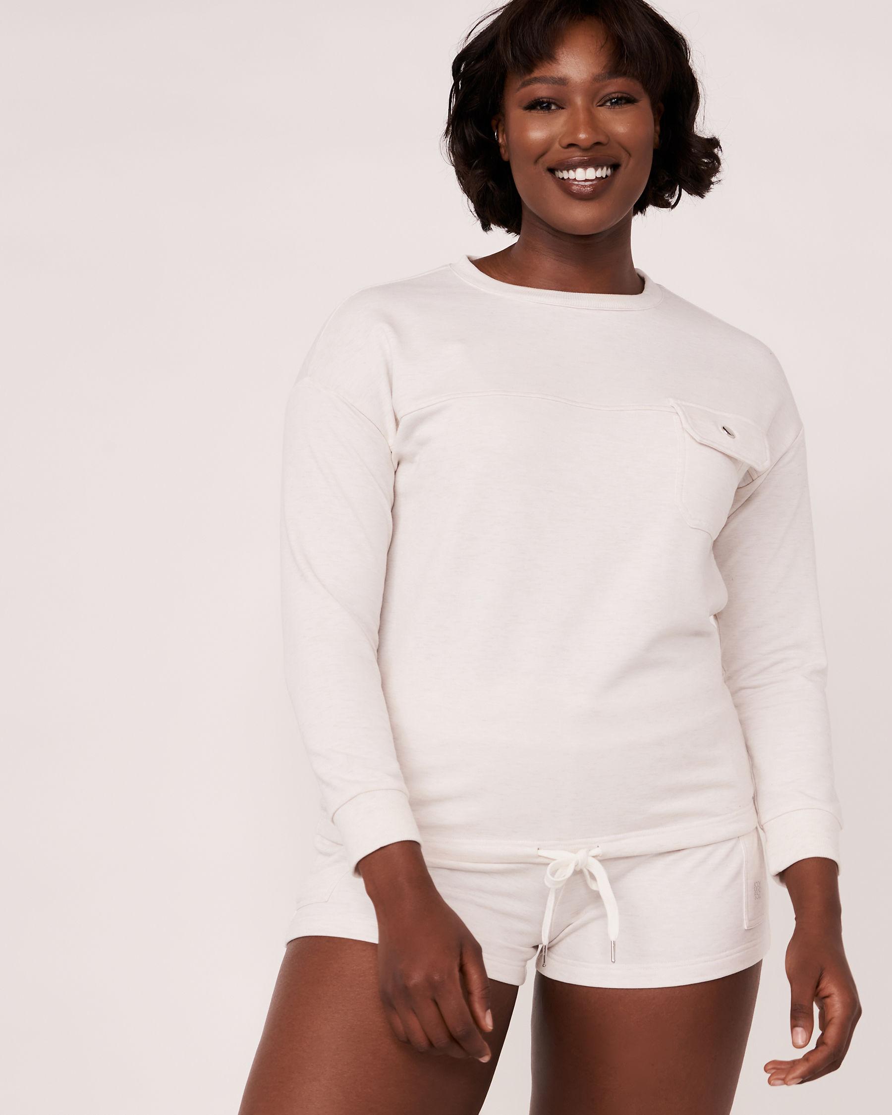 LA VIE EN ROSE Patch Pocket Long Sleeve Shirt Soft grey 50100004 - View1