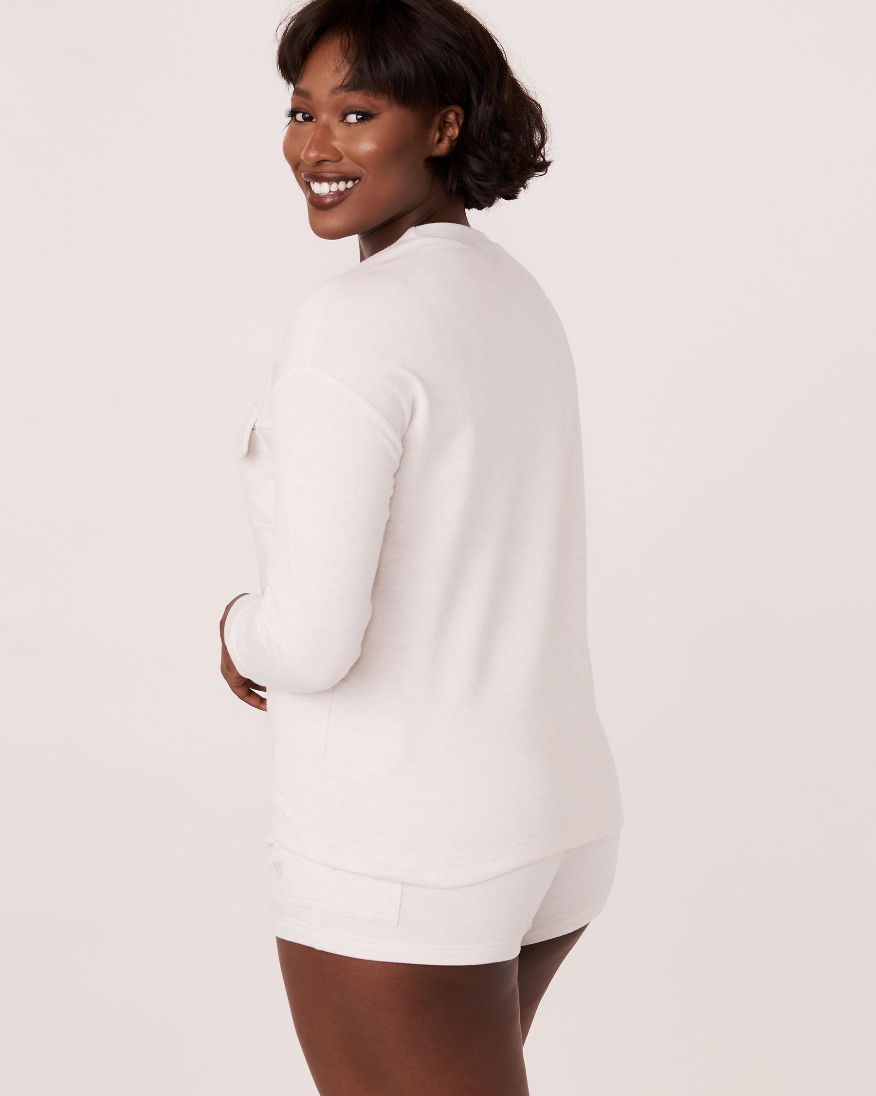 LA VIE EN ROSE Patch Pocket Long Sleeve Shirt Soft grey 50100004 - View2
