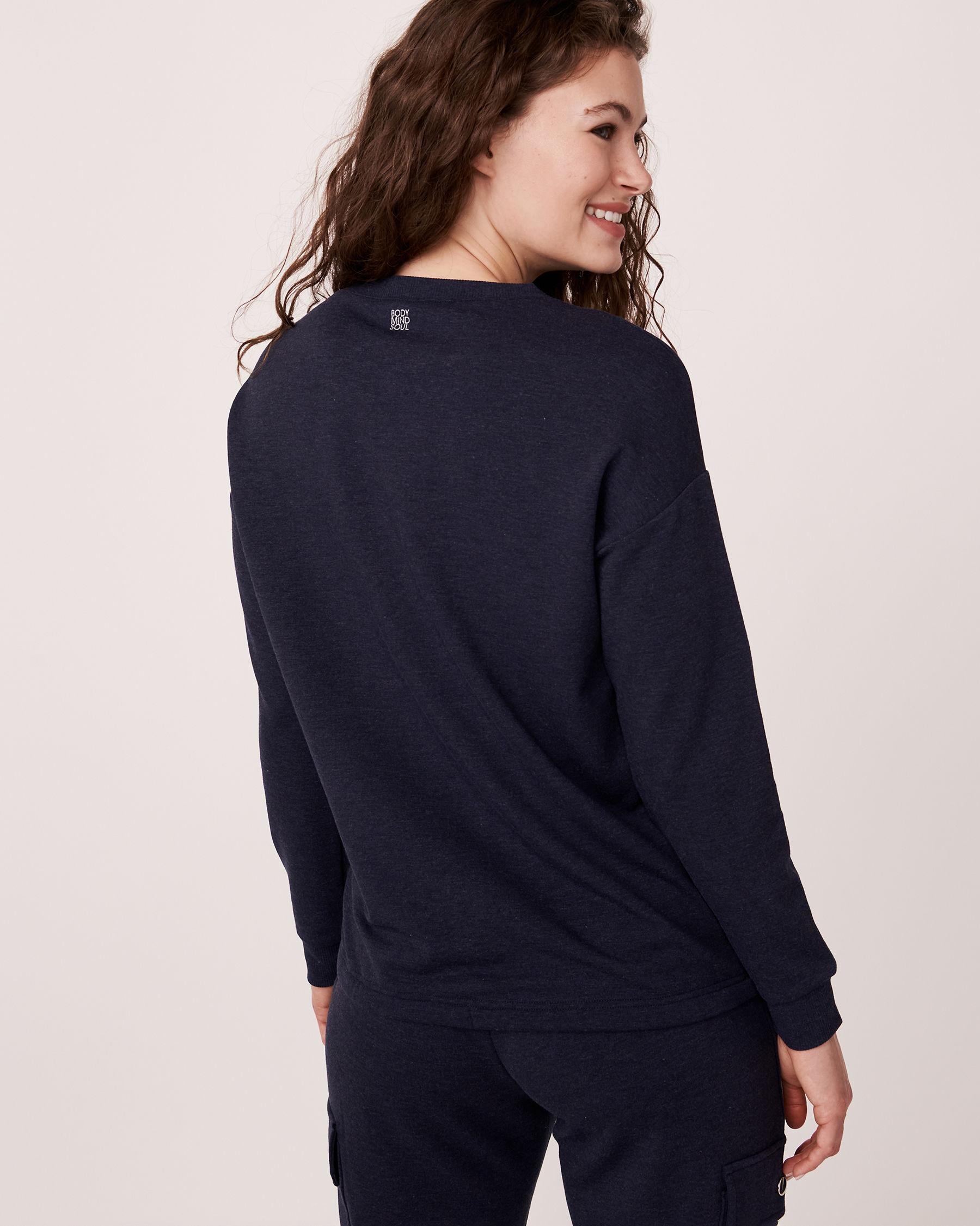LA VIE EN ROSE Patch Pocket Long Sleeve Shirt Blue 50100004 - View2