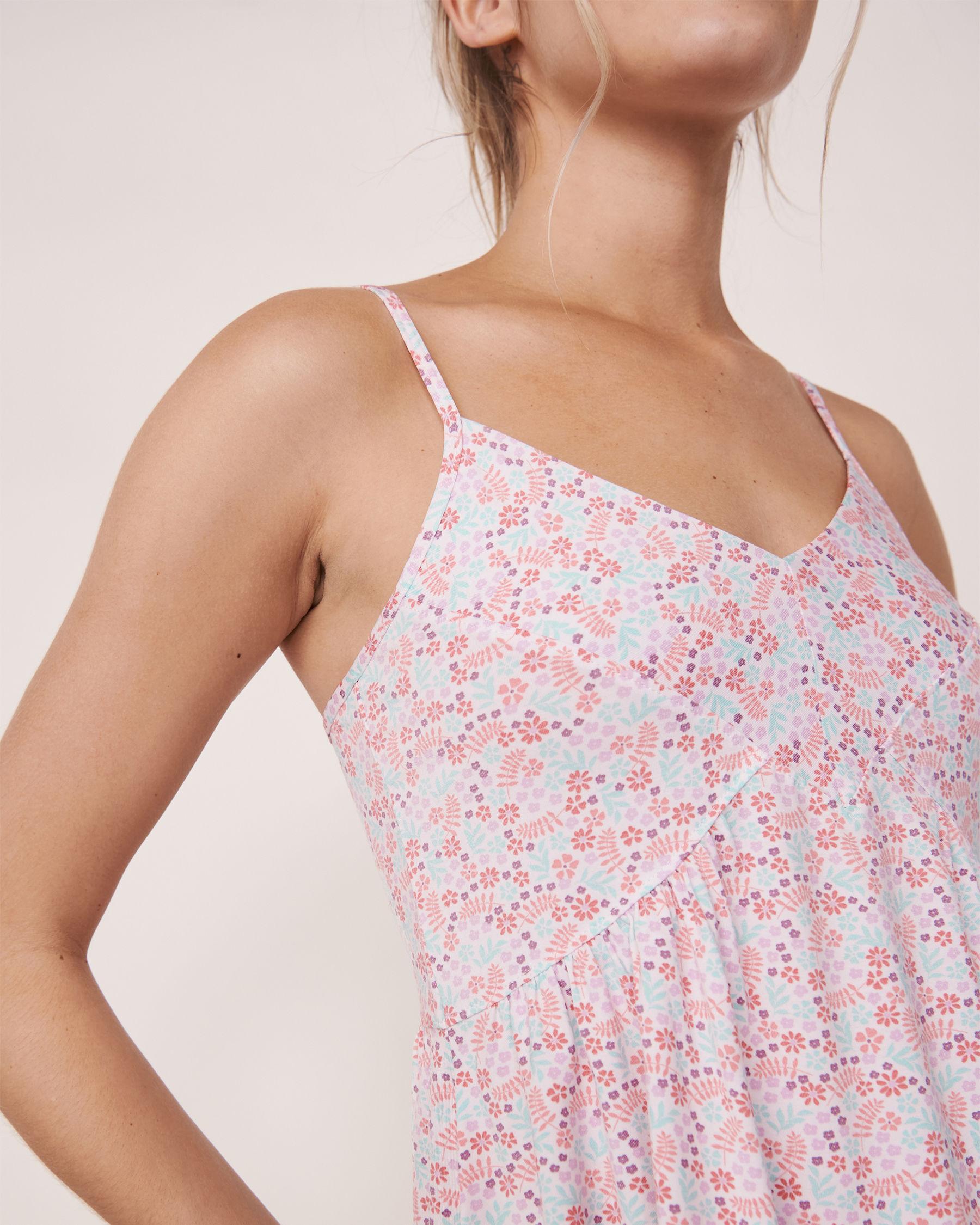 LA VIE EN ROSE Camisole bretelles minces encolure en V Imprimé floral miniature 40100057 - Voir3