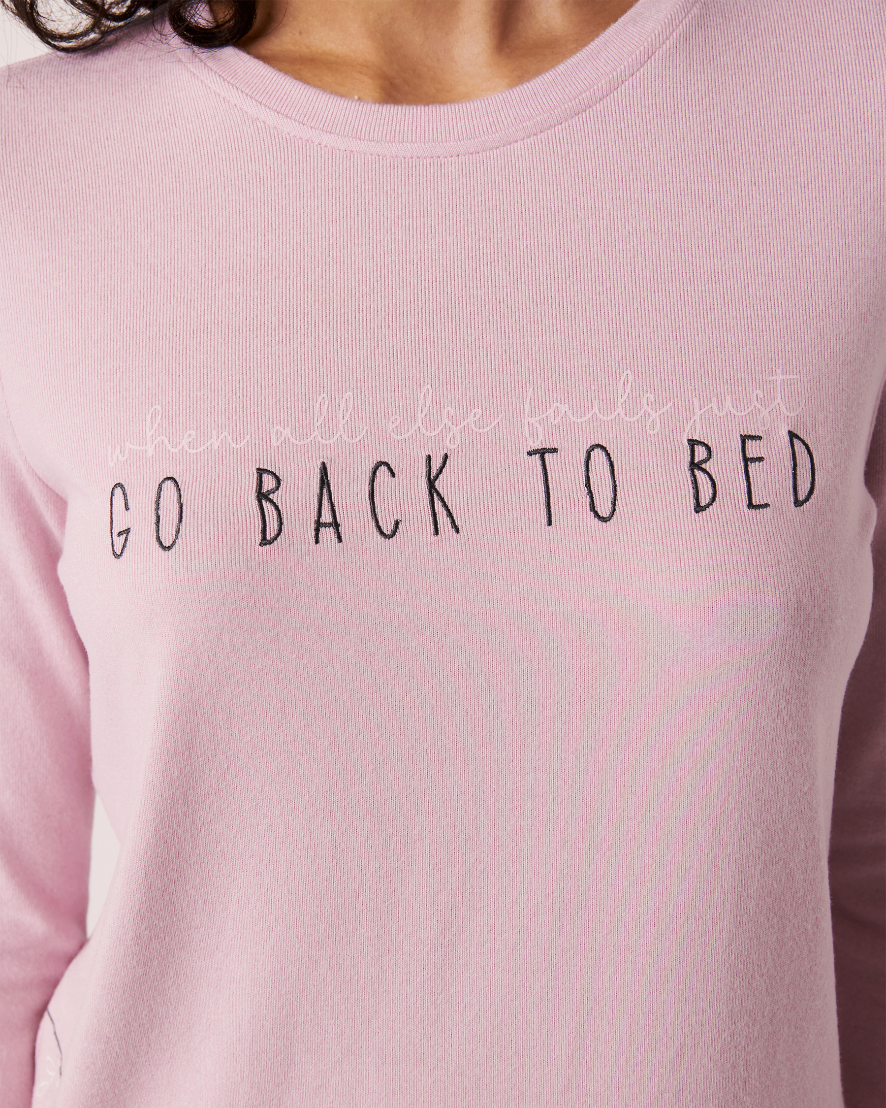 LA VIE EN ROSE Recycled Fibers Long Sleeve Shirt Light pink mix 40100142 - View2