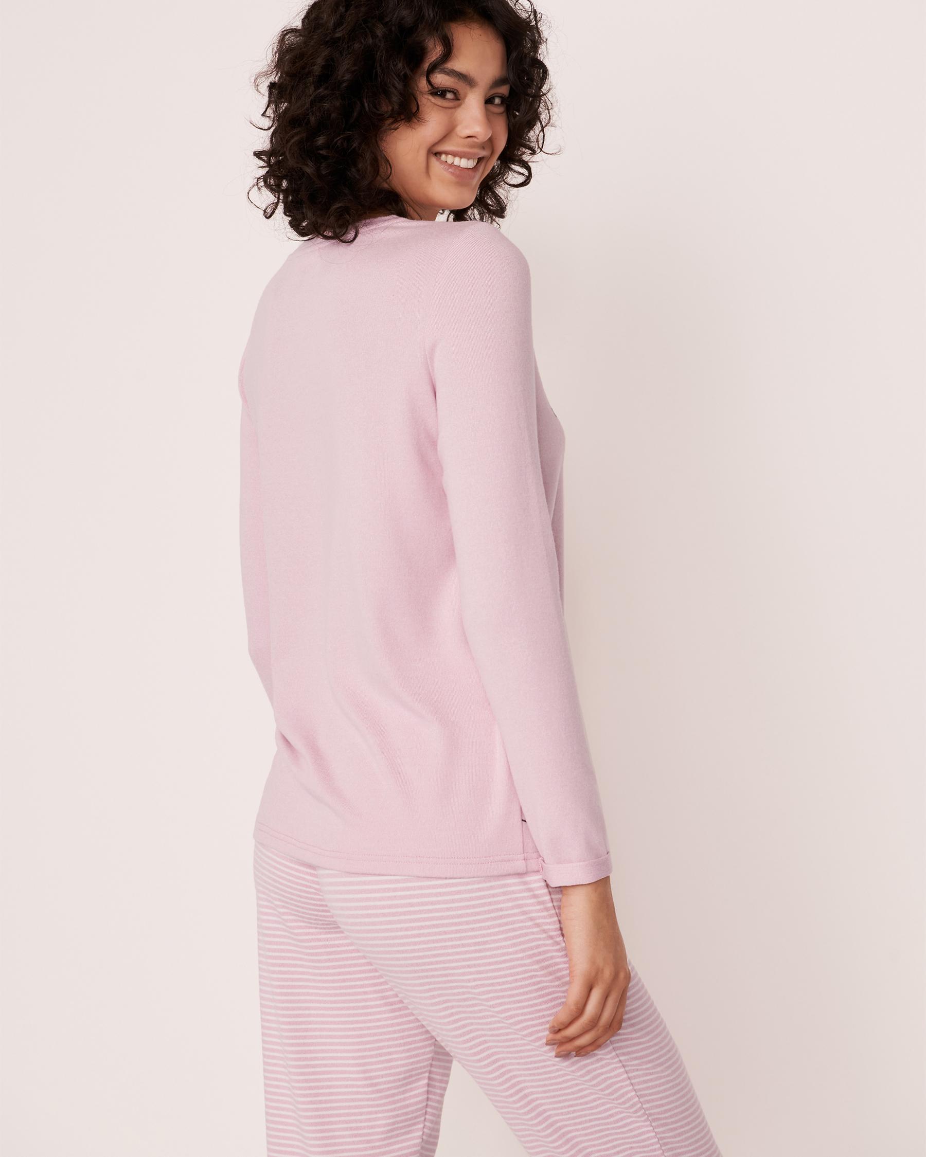 LA VIE EN ROSE Recycled Fibers Long Sleeve Shirt Light pink mix 40100142 - View4