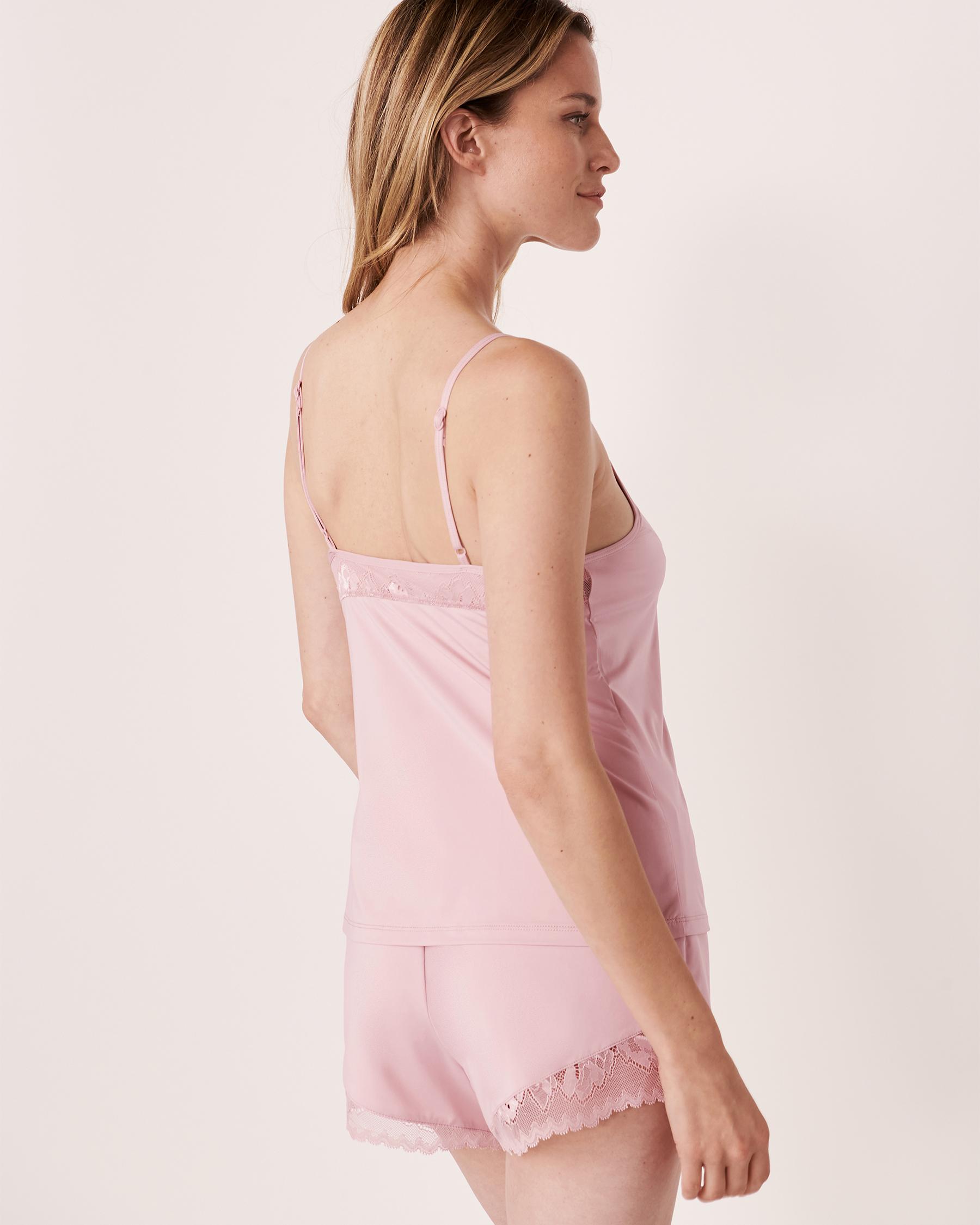 LA VIE EN ROSE Recycled Fibers Lace Trim Cami Lilac 60100005 - View2