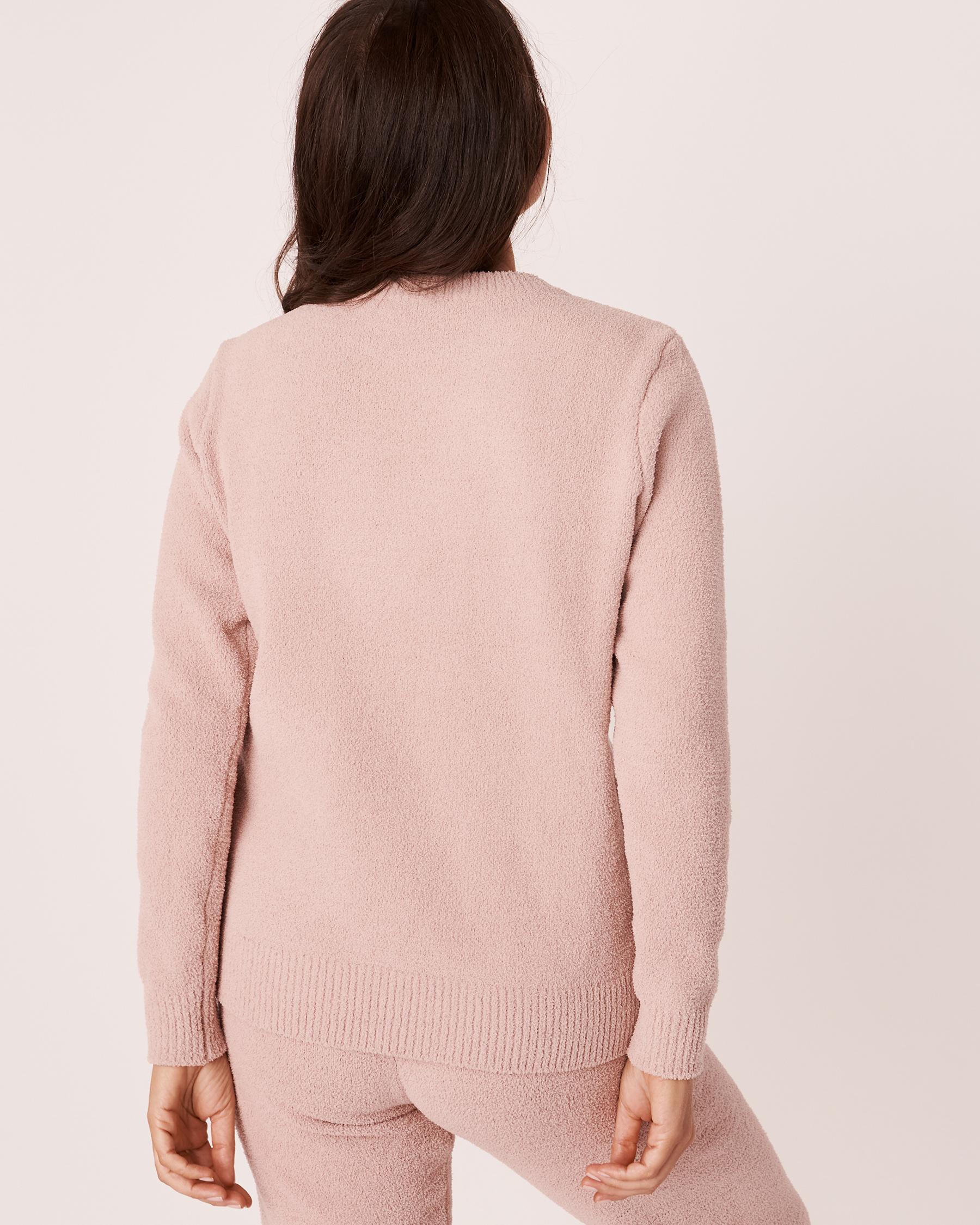 LA VIE EN ROSE Chenille Long Sleeve Shirt Shadow grey 50100019 - View2