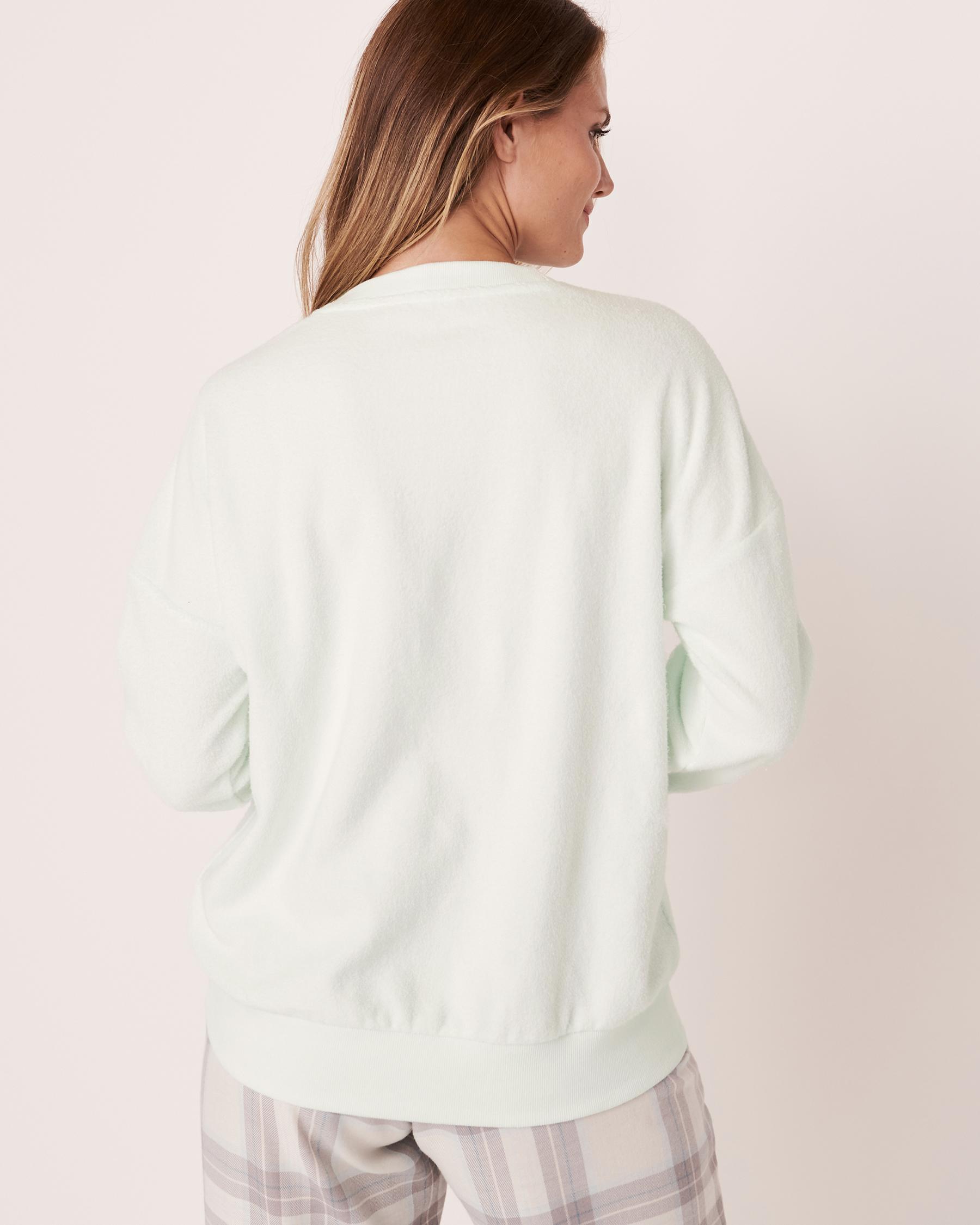 LA VIE EN ROSE Mini Sherpa Fleece Sweatshirt Light aqua 40100148 - View3