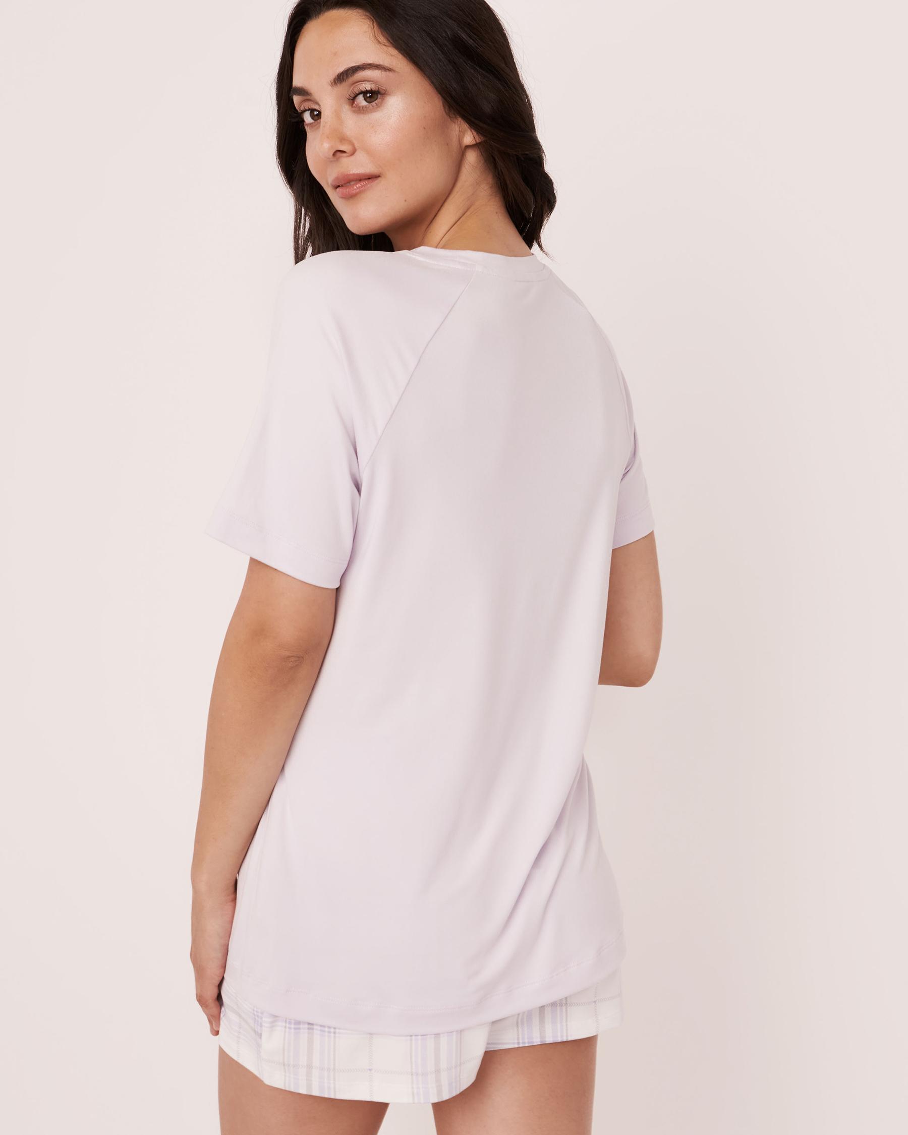 LA VIE EN ROSE Plush Print T-shirt Lavender 40100140 - View3