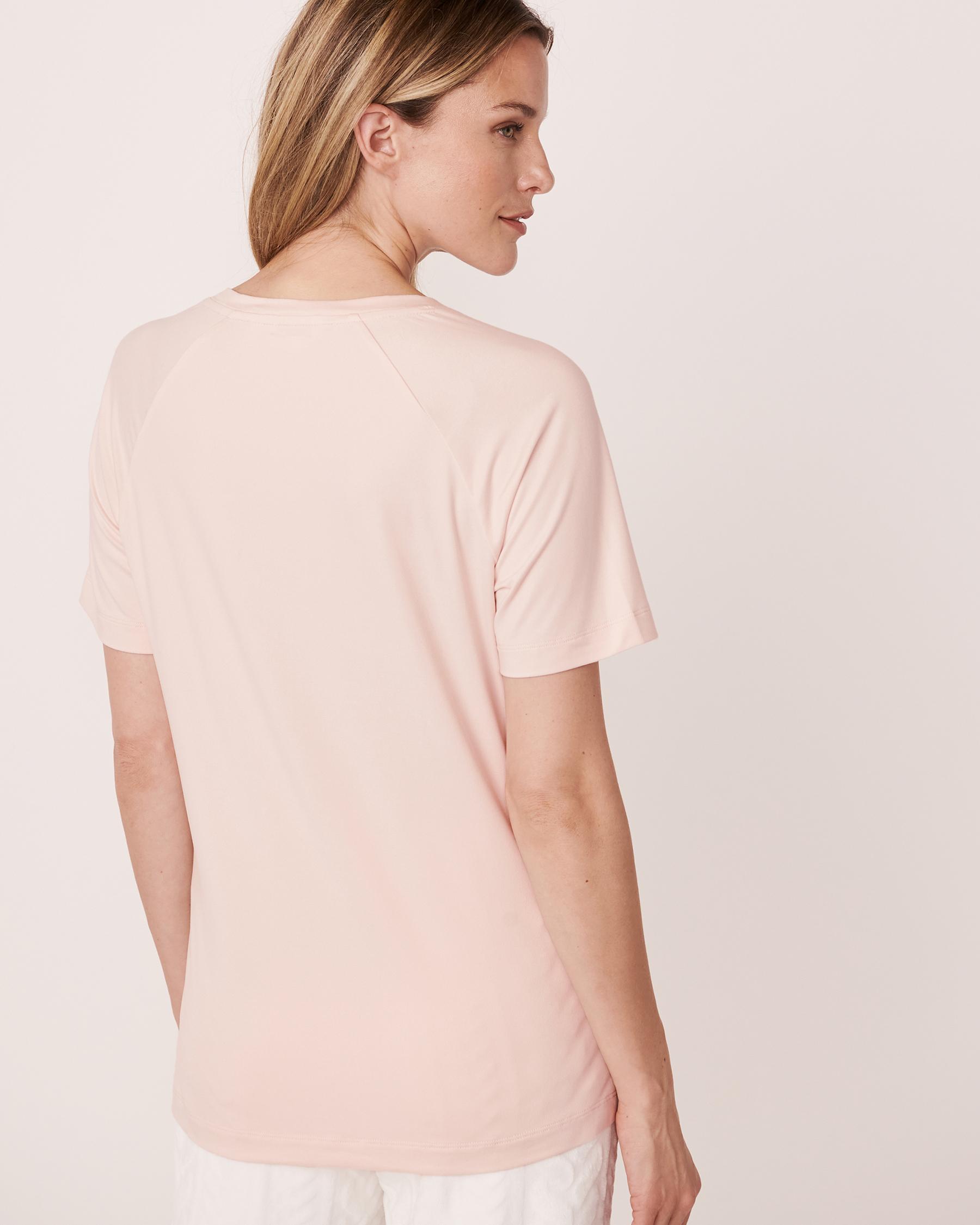 LA VIE EN ROSE Plush Print T-shirt Light pink 40100140 - View2