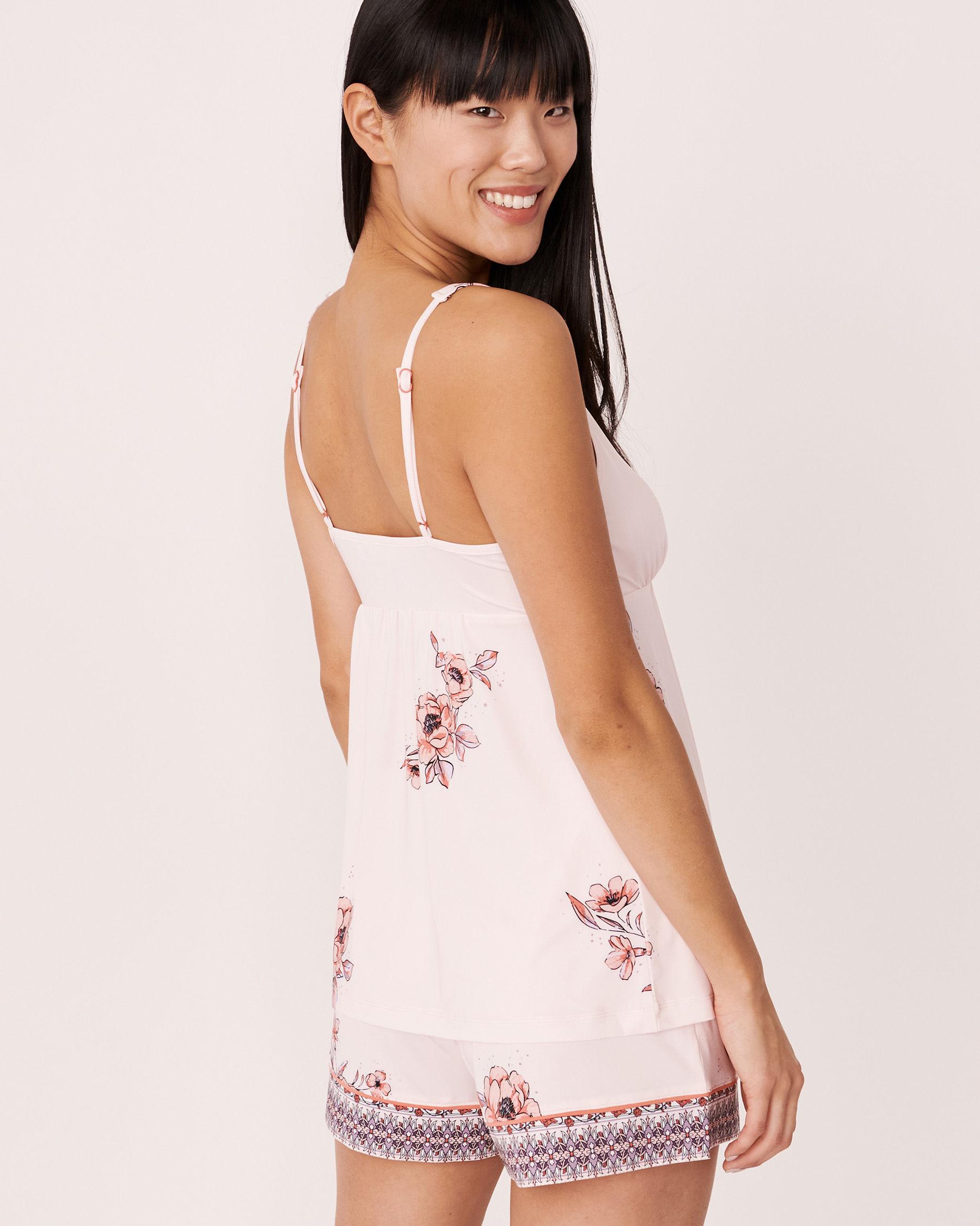 LA VIE EN ROSE Recycled Fibers Lace Trim Cami Floral print 40100059 - View2