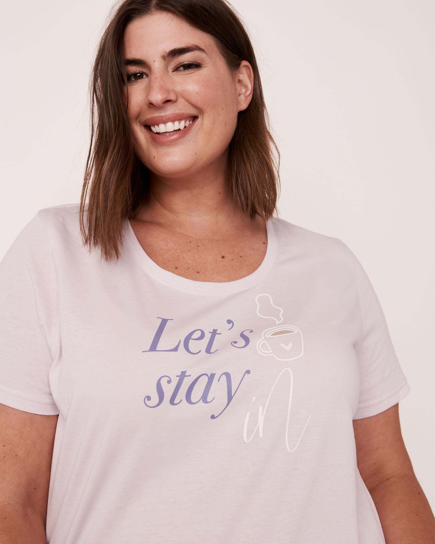 LA VIE EN ROSE Scoop Neck T-shirt Lavender 40100167 - View1