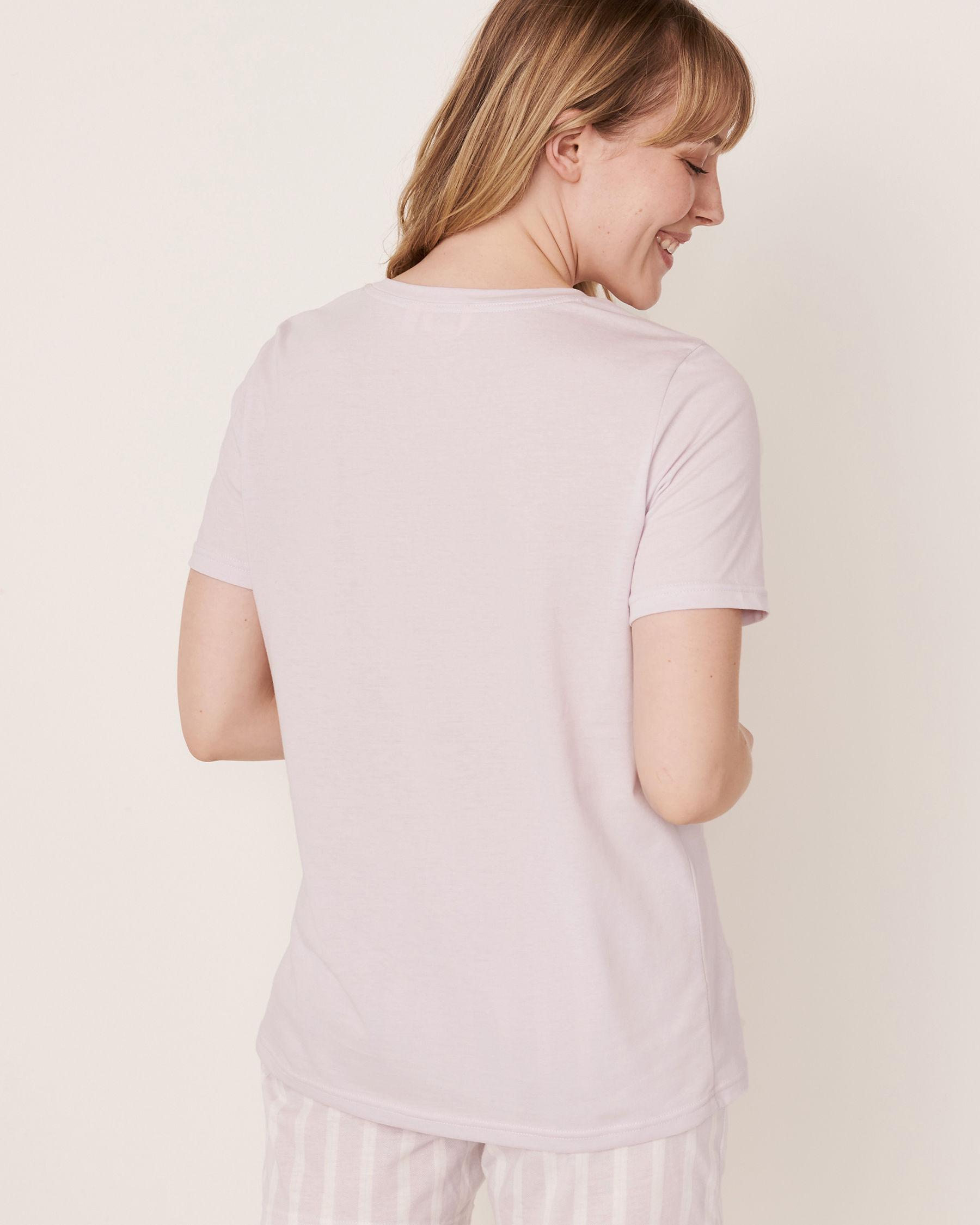 LA VIE EN ROSE Scoop Neck T-shirt Lavender 40100167 - View5