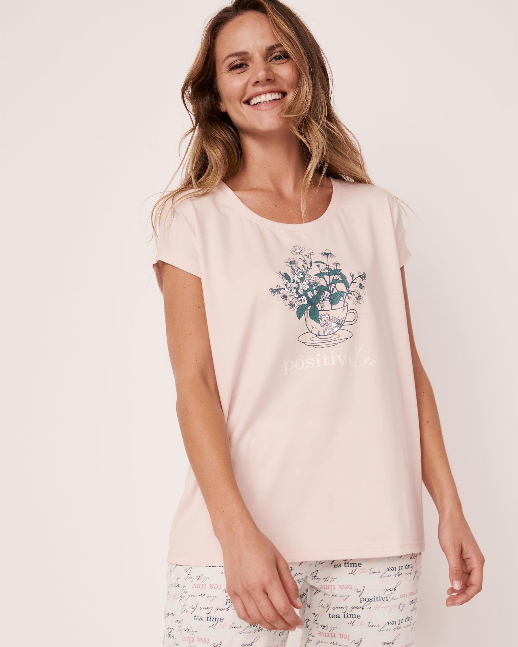 LA VIE EN ROSE Scoop Neck T-shirt Light pink 40100181 - View1