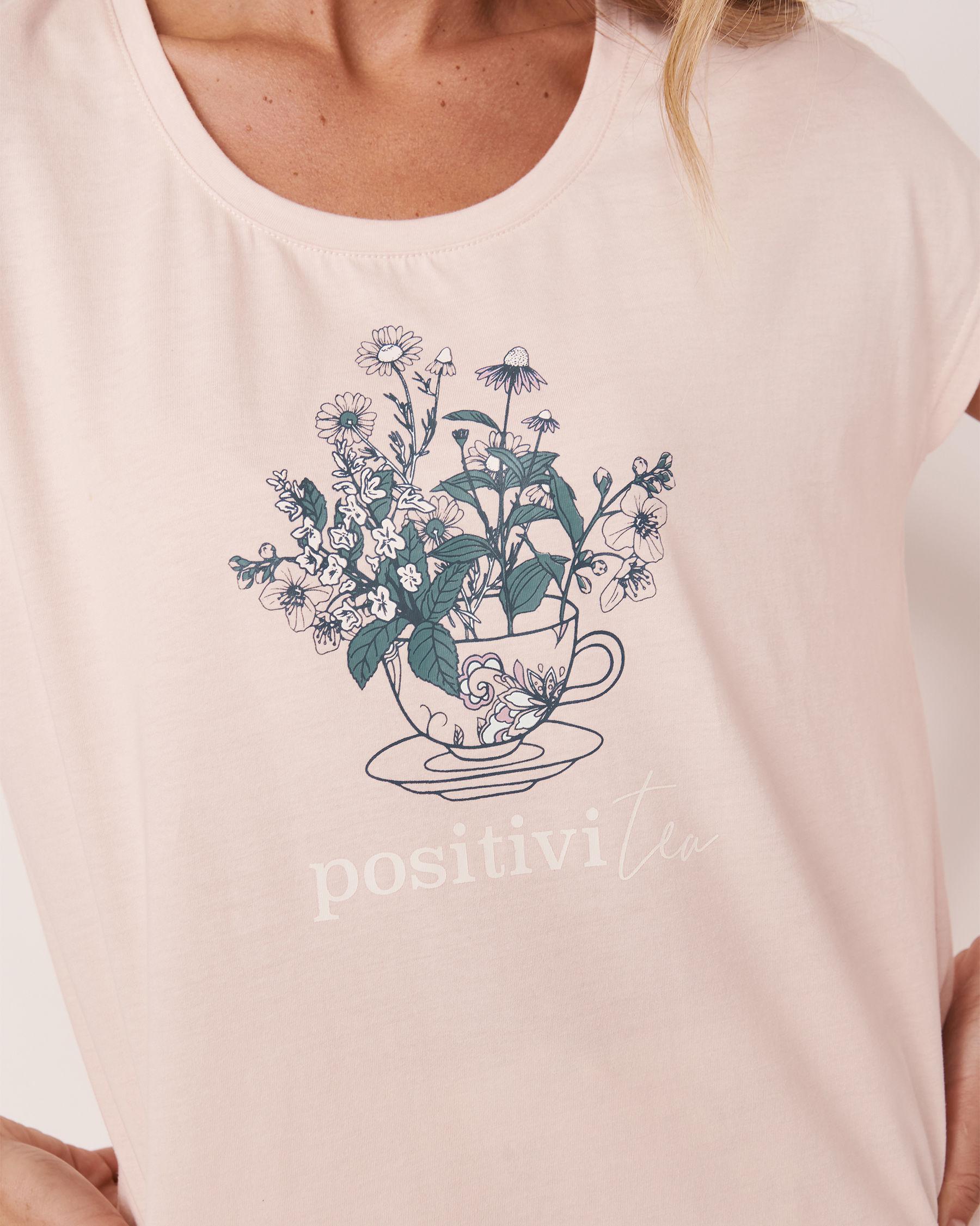 LA VIE EN ROSE Scoop Neck T-shirt Light pink 40100181 - View2