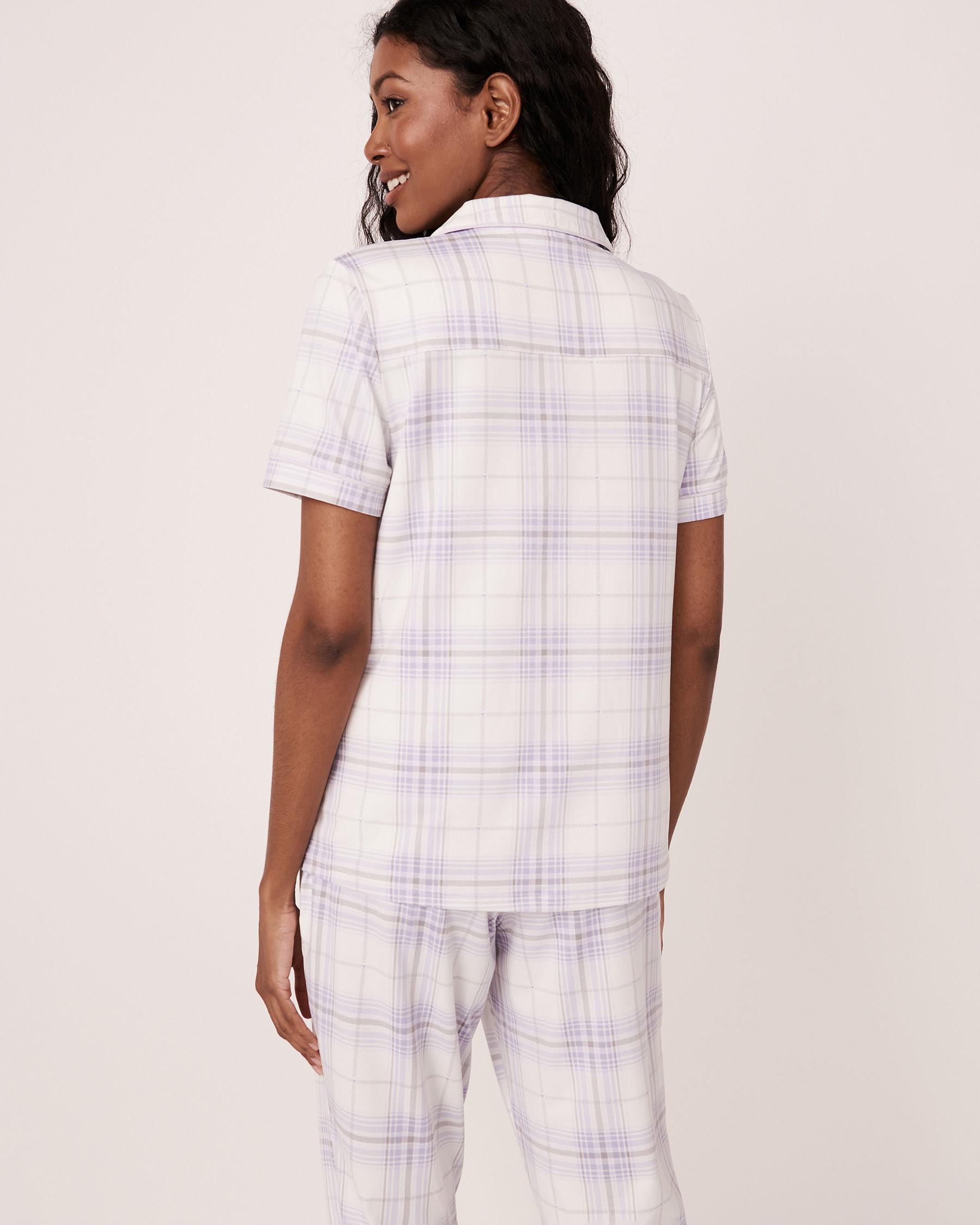 LA VIE EN ROSE Short Sleeve Shirt Plaid 40100147 - View2